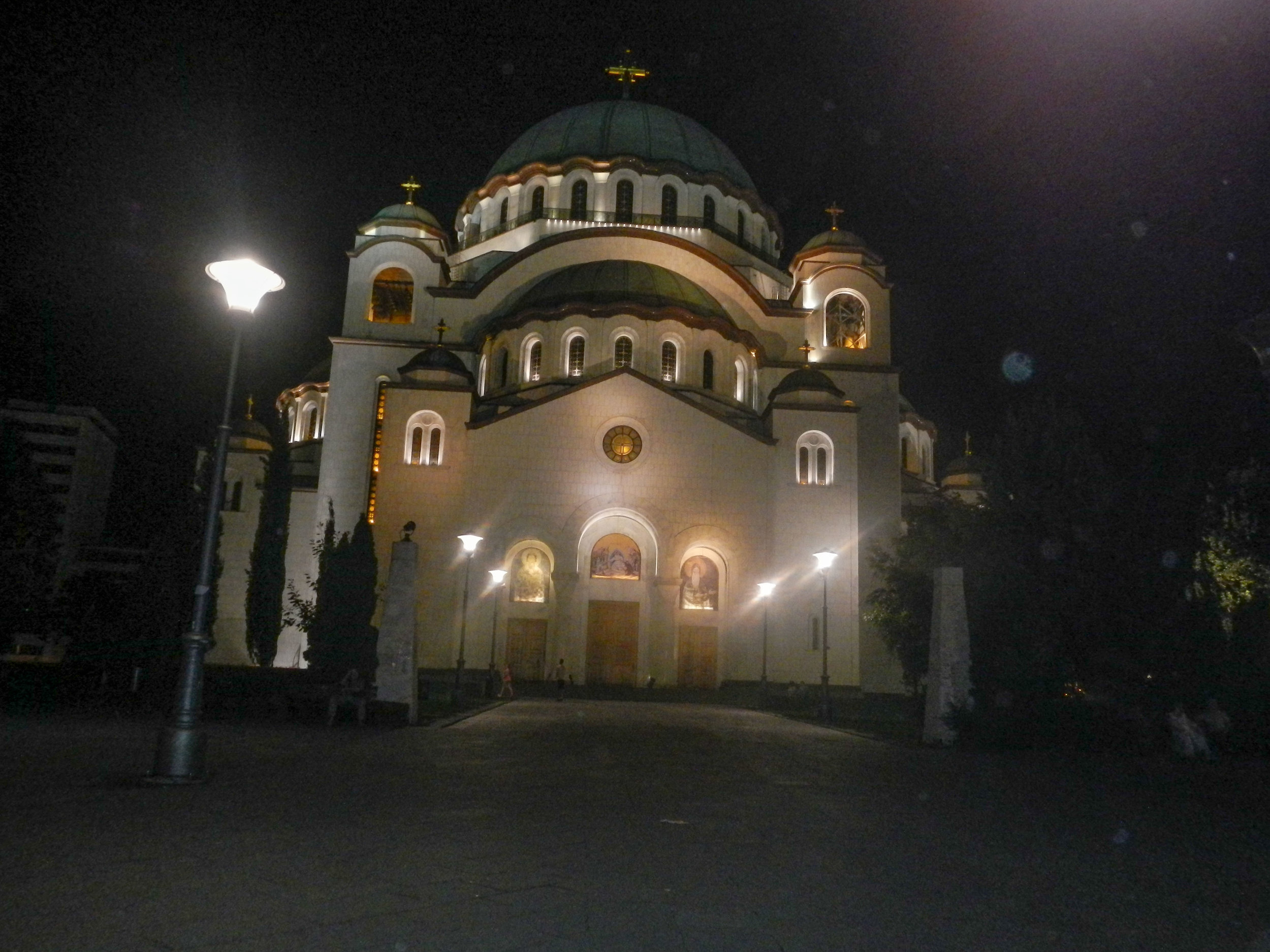 St Sava Orthodox Temple at night, Belgrade