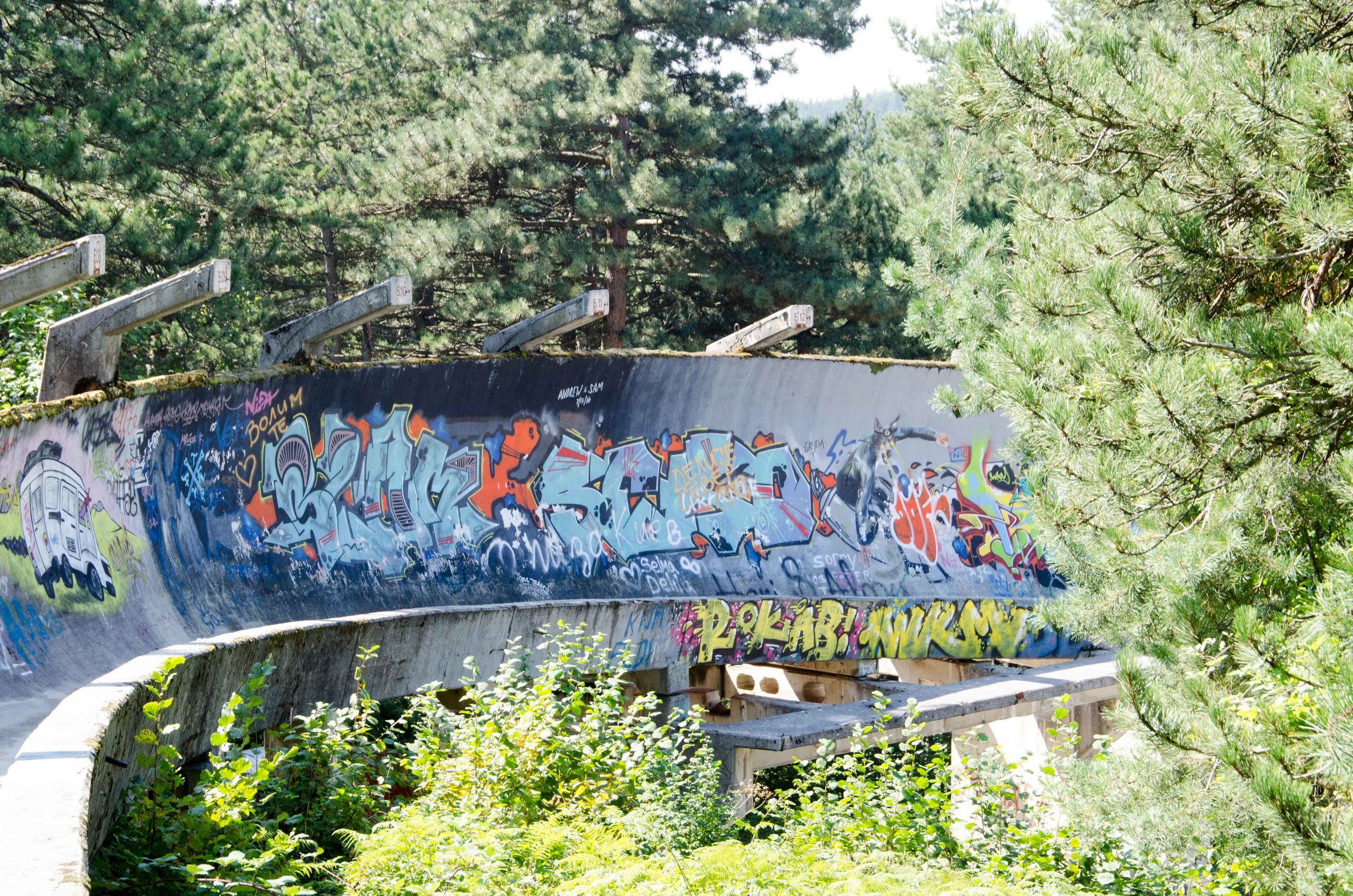 Bobsleigh track, Trebevic Mountain
