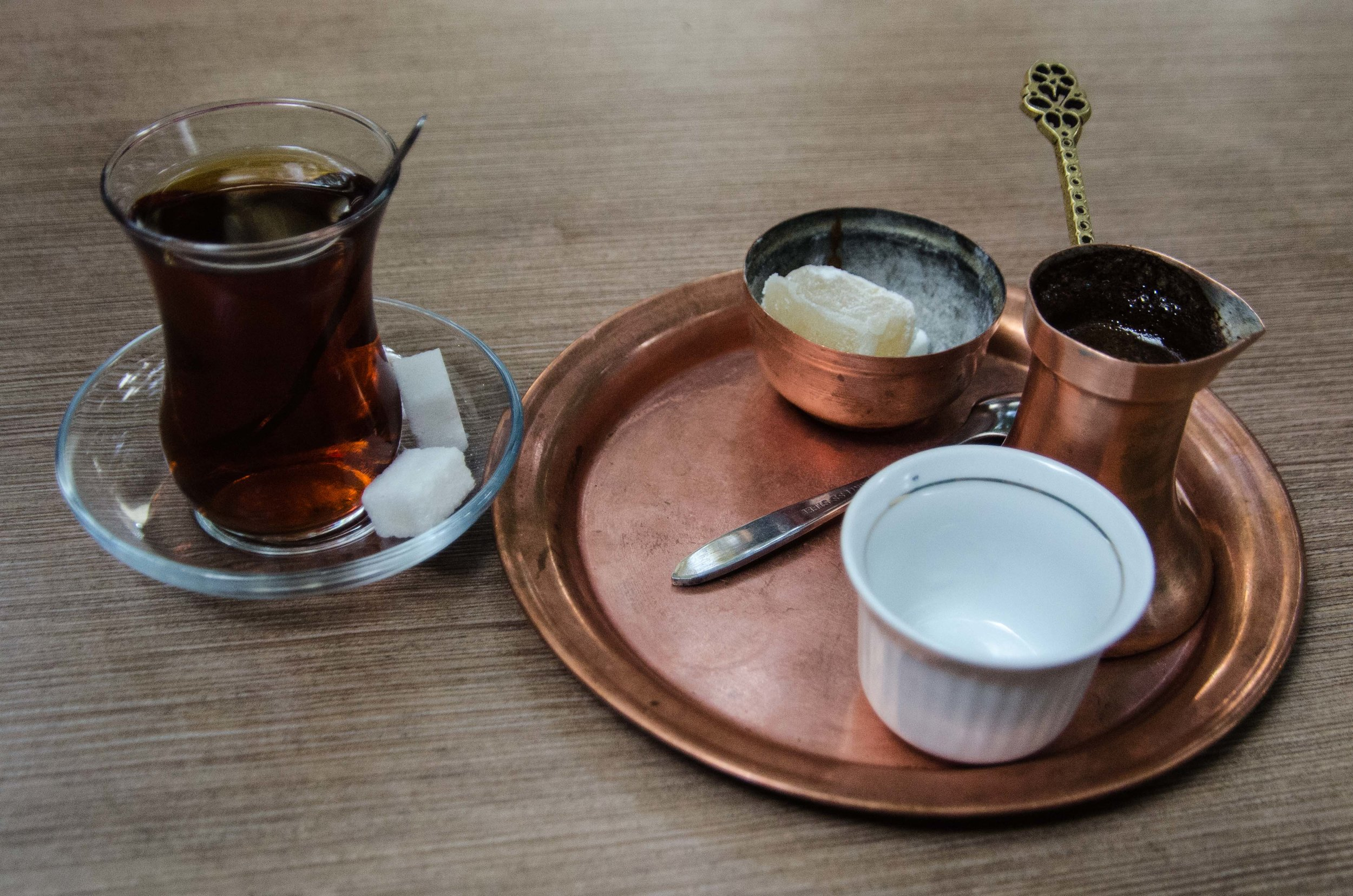 Turkish tea & coffee at caravanserais, Sarajevo