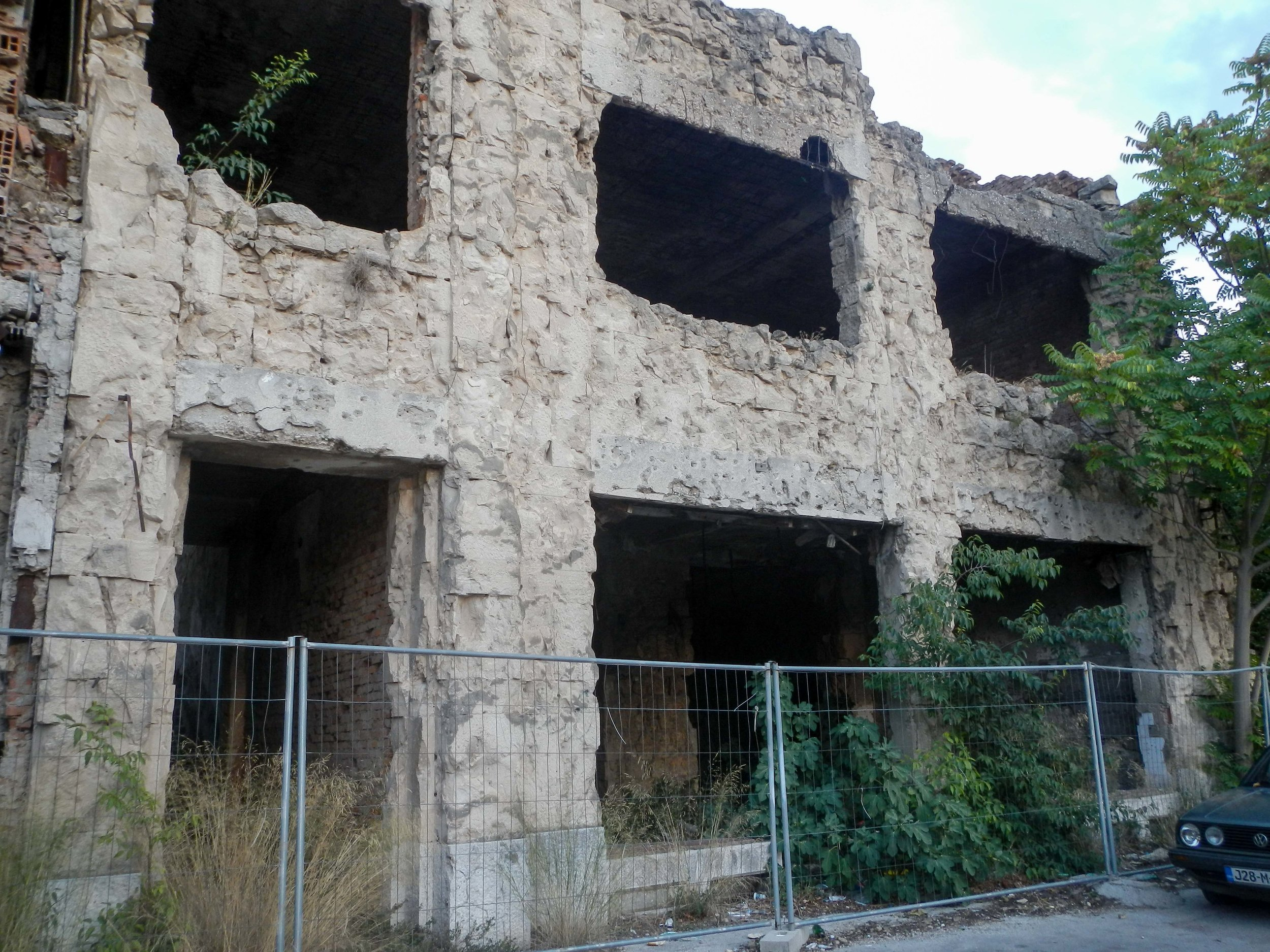 Damaged building, Mostar