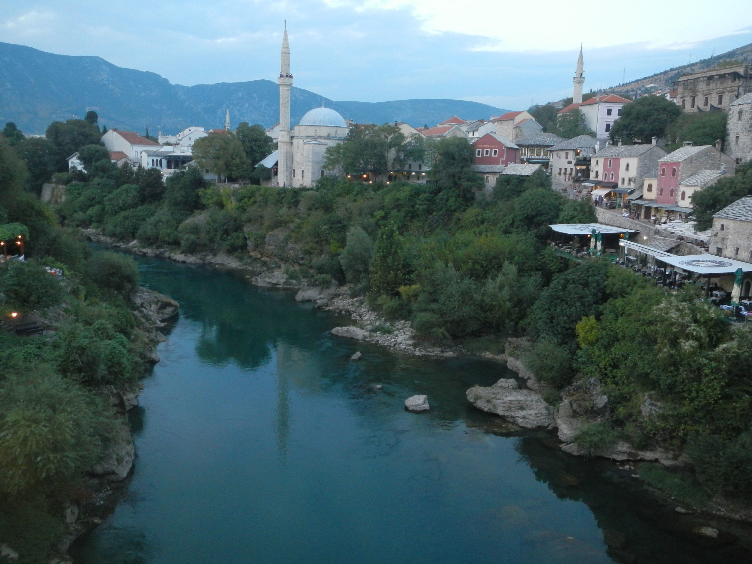 View from Ottoman Bridge, Mostar