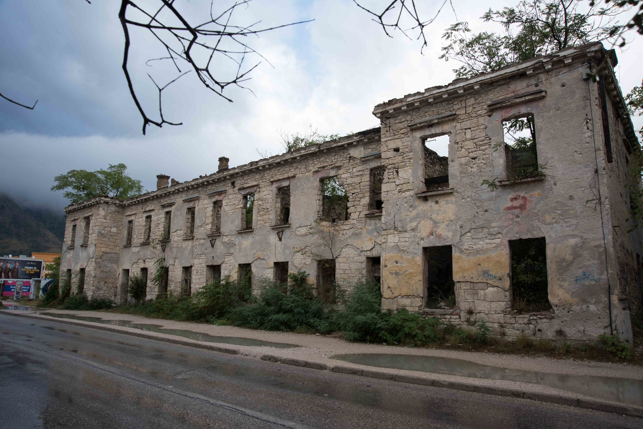 Damaged building, Mostar, Bosnia