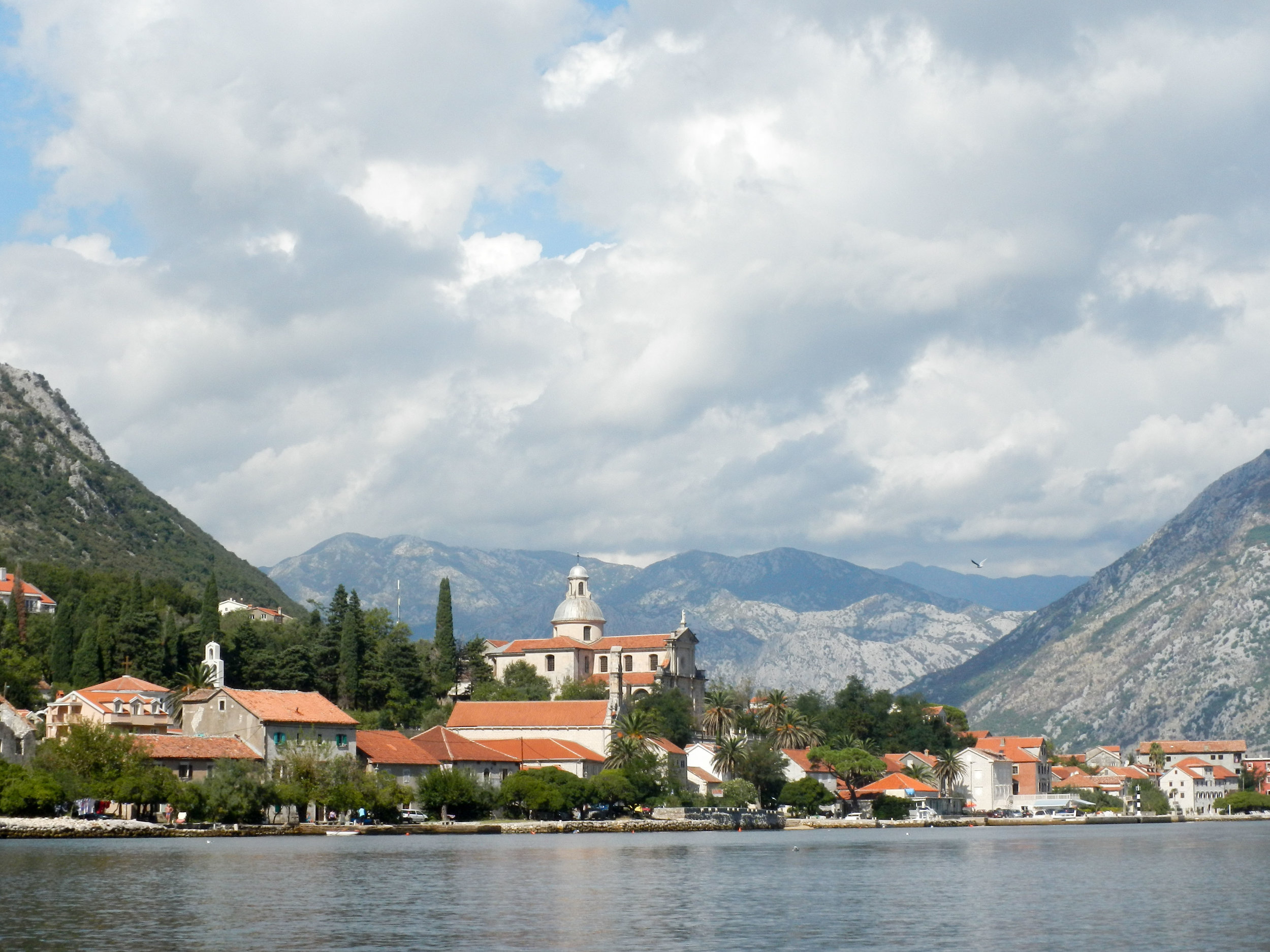 Scenery from kayak, Kotor, Montenegro