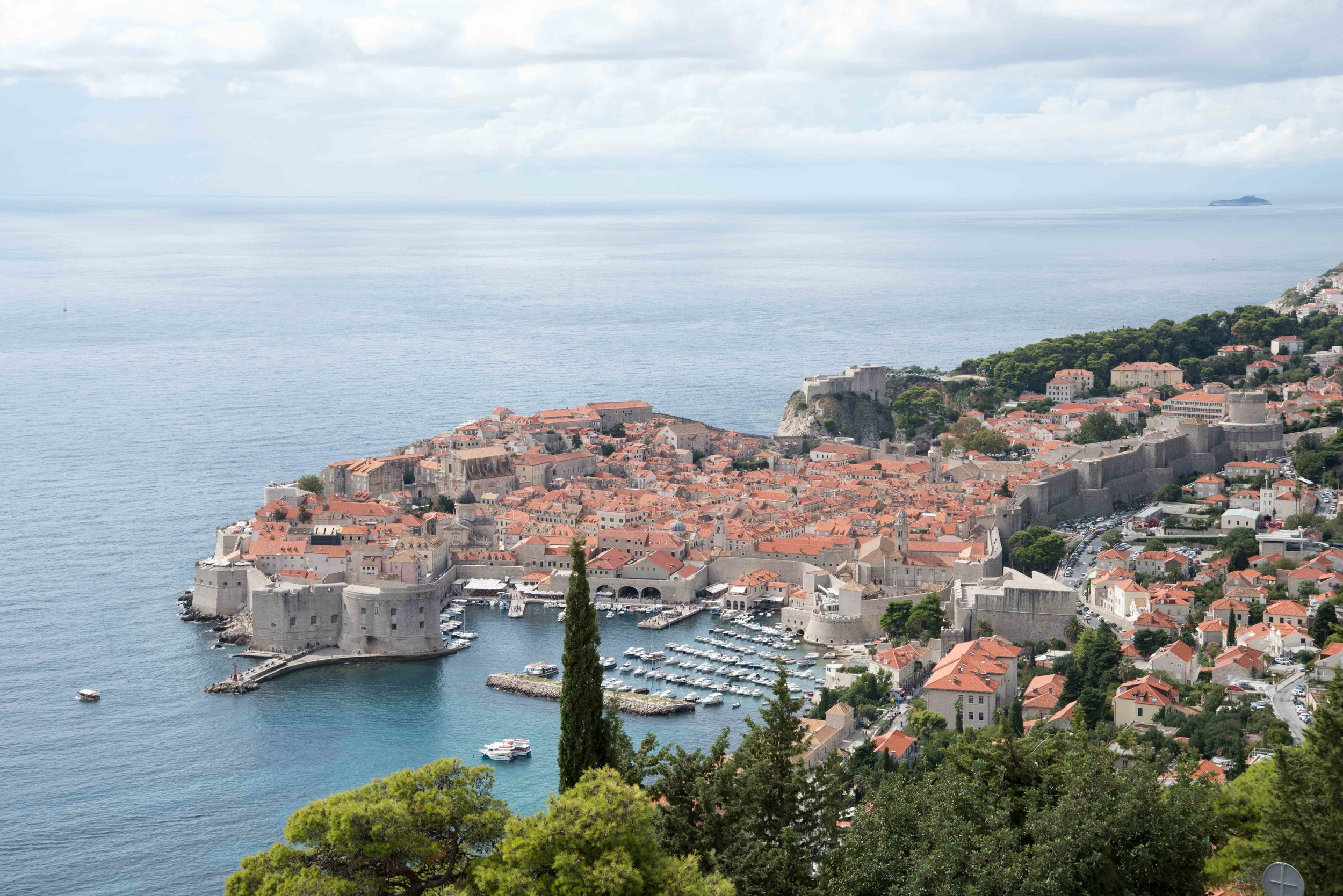 View of Dubrovnik old town, Croatia