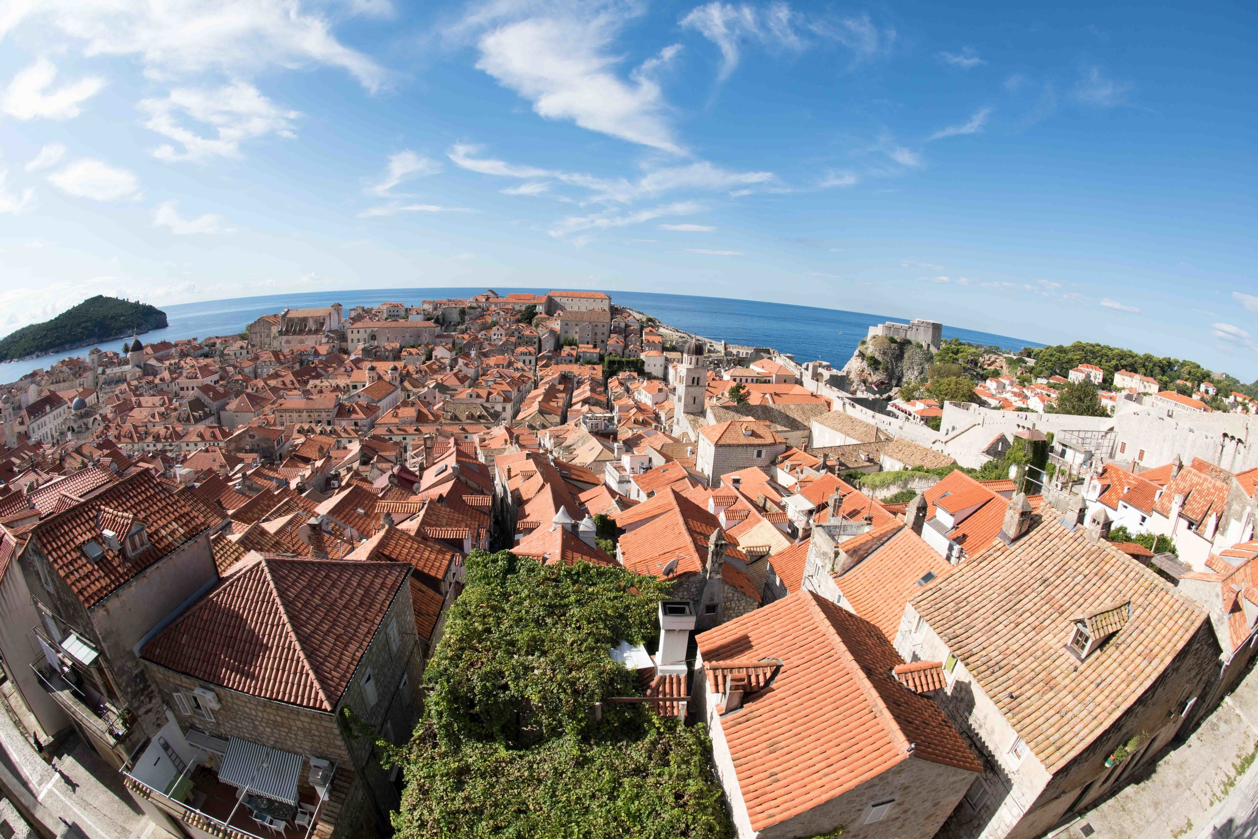 View from town wall, Dubrovnik old town
