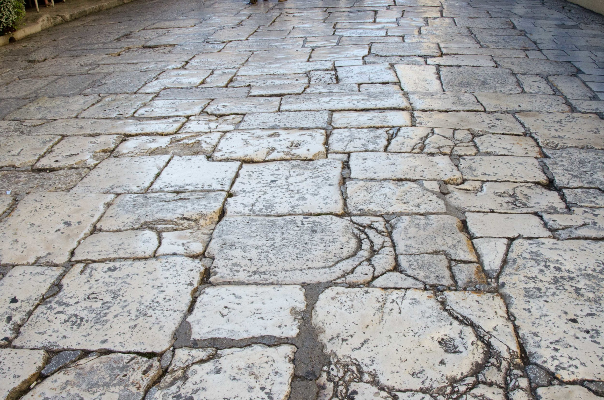 Original Roman stone pathway, Old City