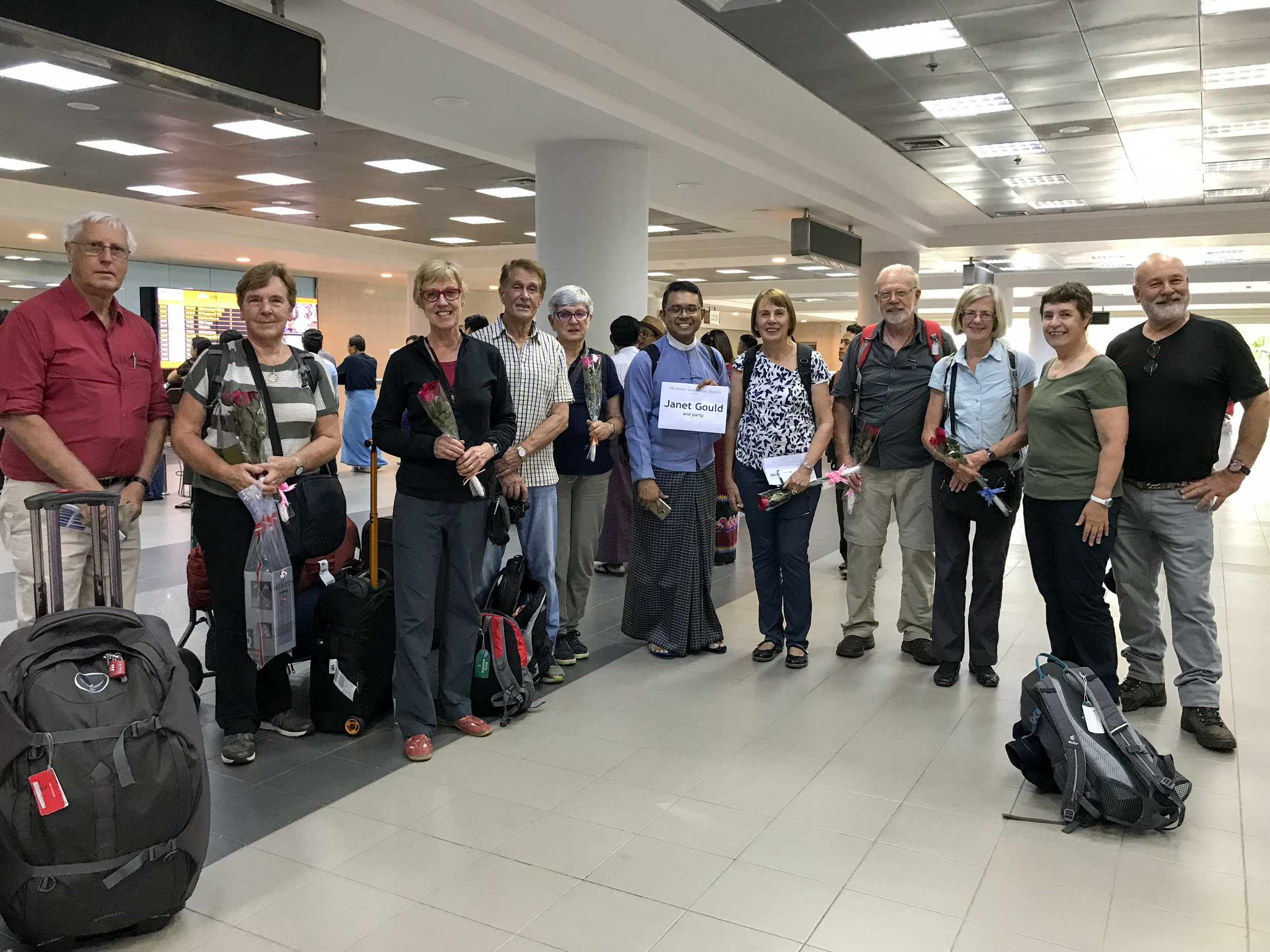 Group meeting WIllaim at airport, Mandalay, Myanmar, 15 Nov 2017.jpg
