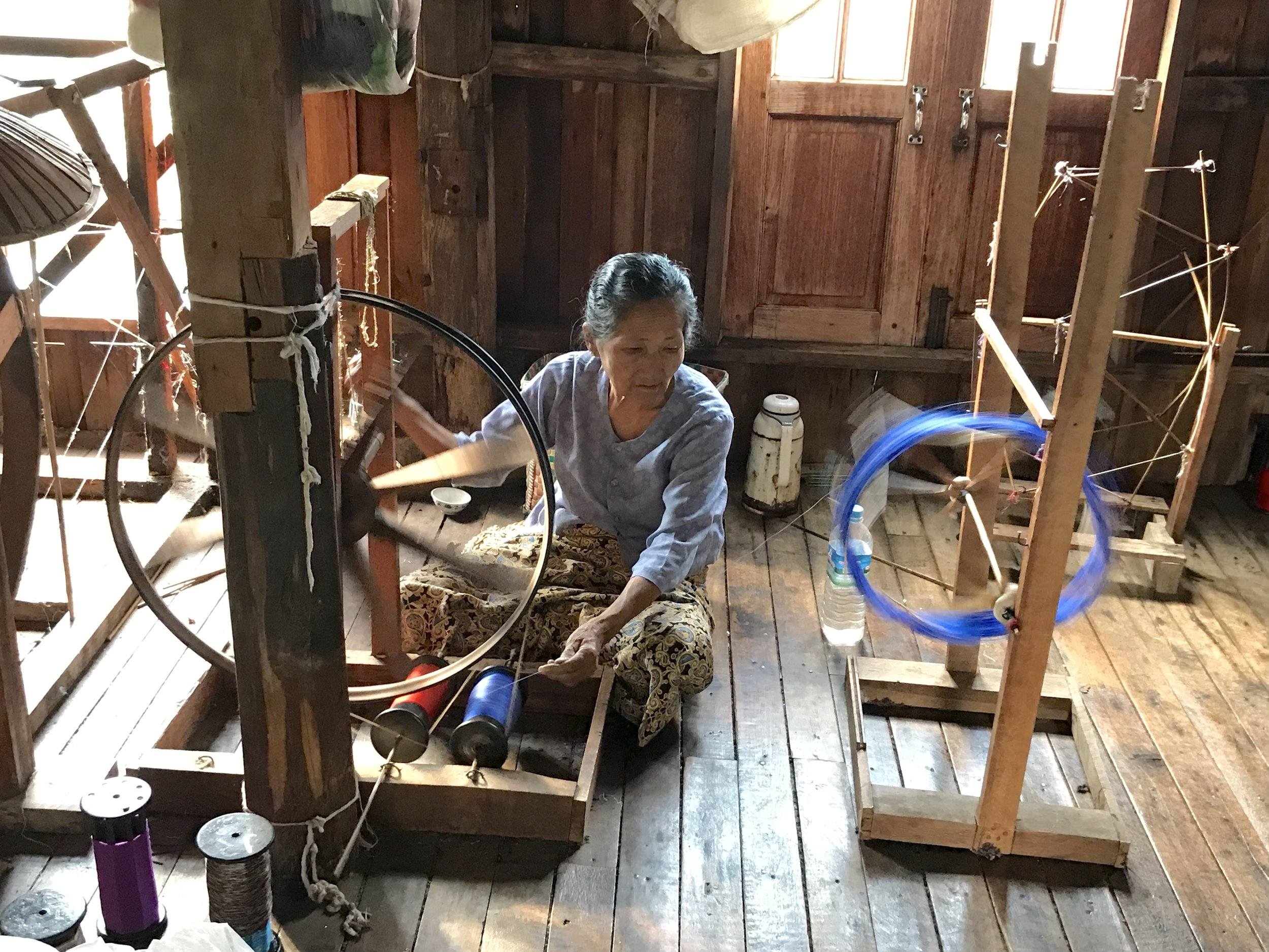Lotus thread spinning