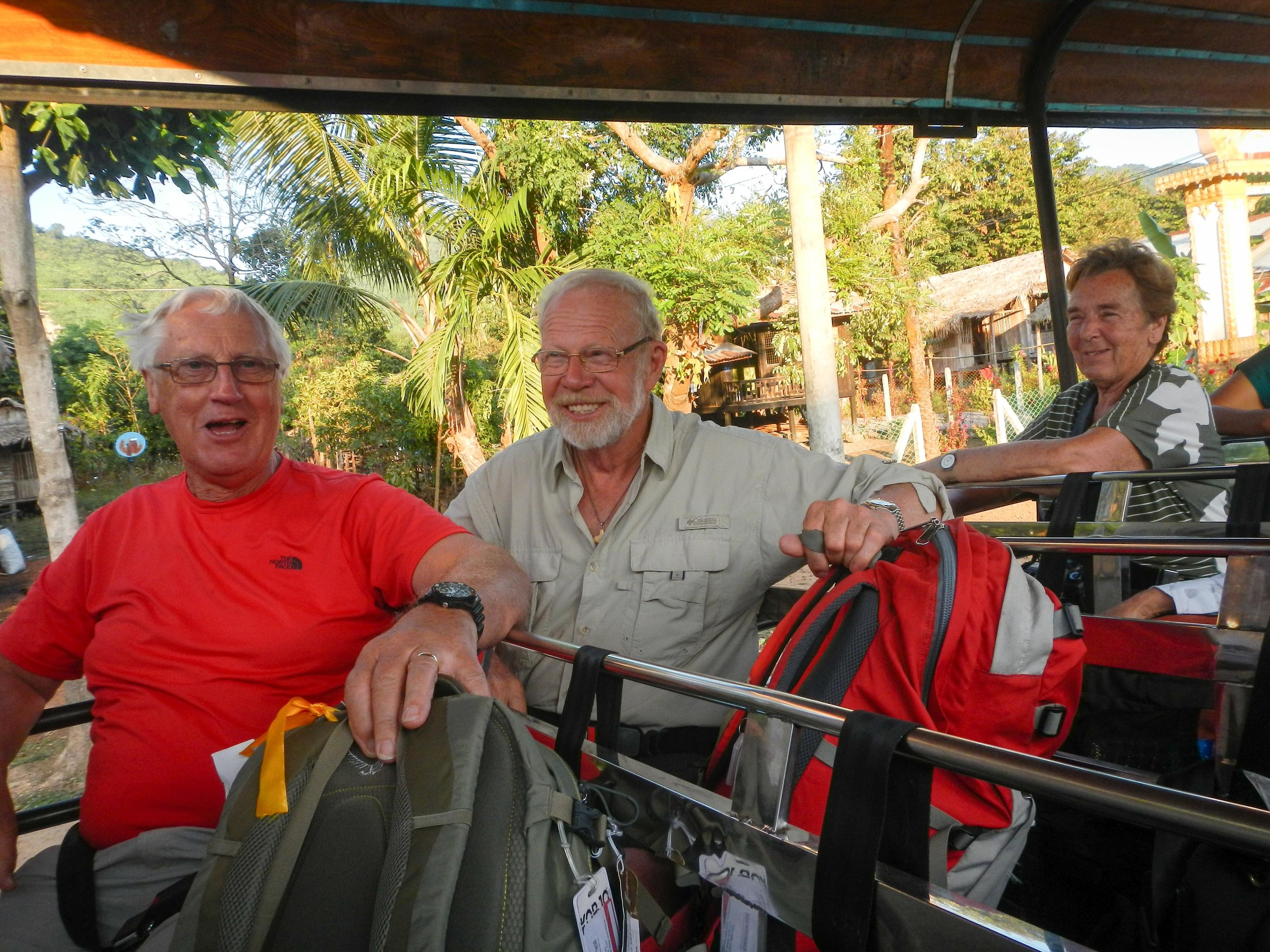 Graeme, Tony & Jenny on truck to Golden Rock 001, Kyiakhtiyo, Myanmar, 24 Nov 2017.jpg