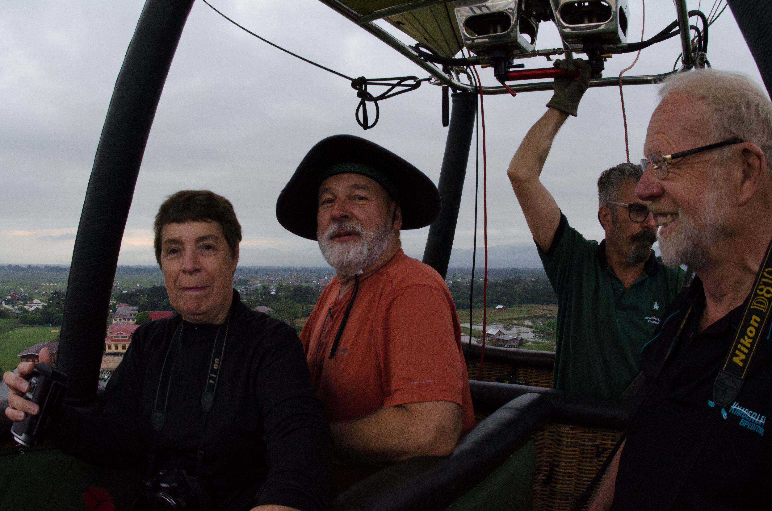 Diana, Chris, Nic & Tony in hot-air balloon 001, Inle Lake, Myanmar, 22 Nov 2017.jpg