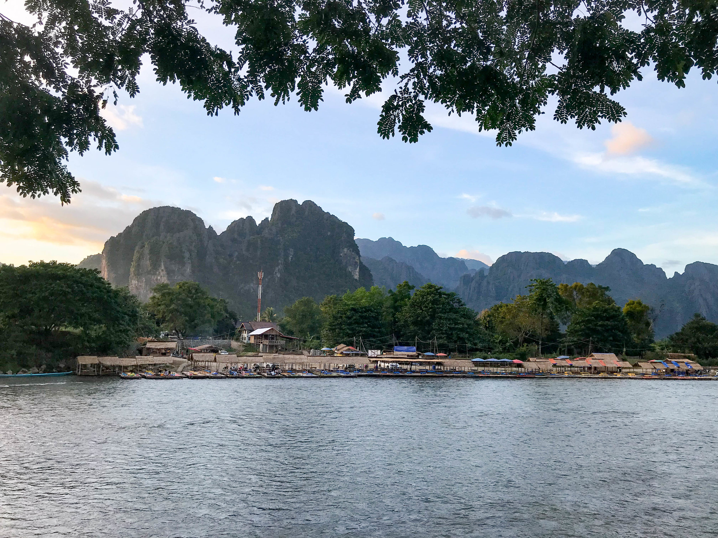 Karst Mountains from Vang Vieng 001, Laos, 28 Nov 2017.jpg
