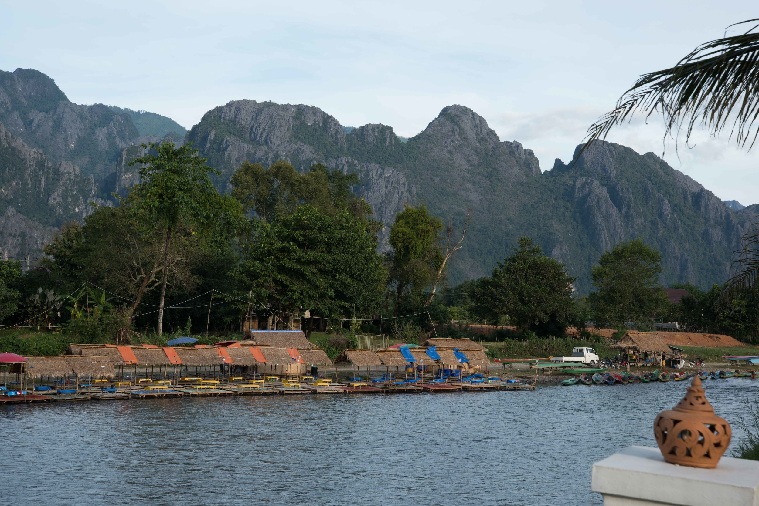 Karst Mountains from Riverside Boutique Resort, Vang Vieng, Laos, 29 Nov 2017-2.jpg