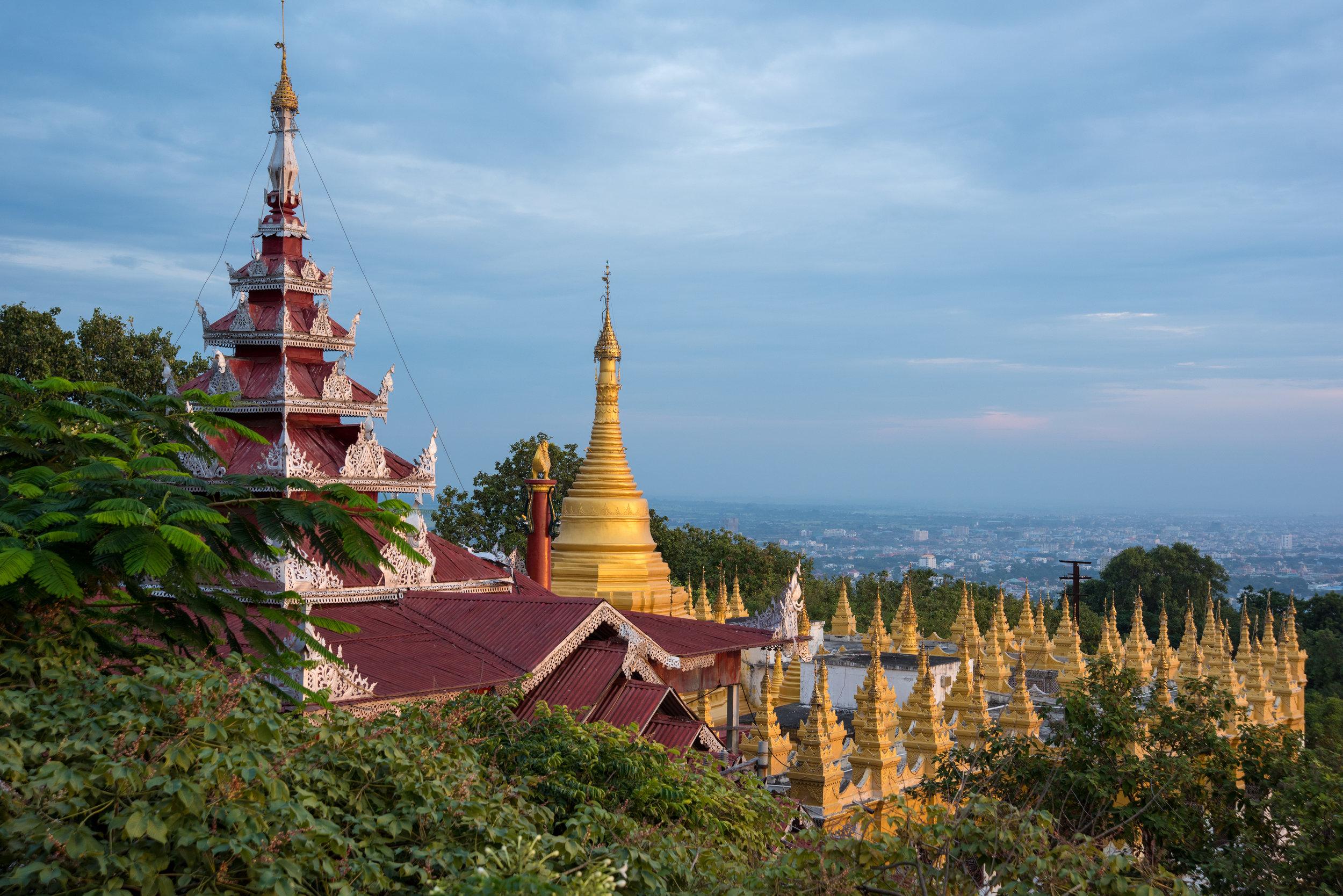 Sunset from Mandalay Hill, Mandalay, Myanmar