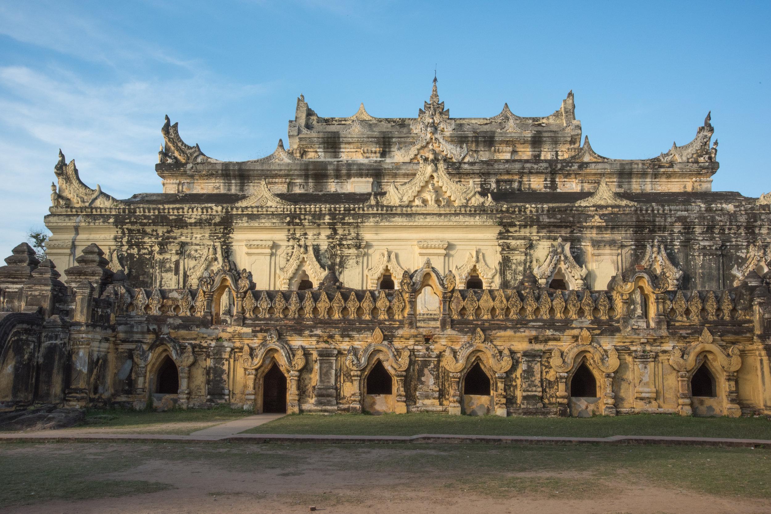 Maha Aung Mye Bom San Brick Monastery, Inwa, Mandalay Region, Myanmar