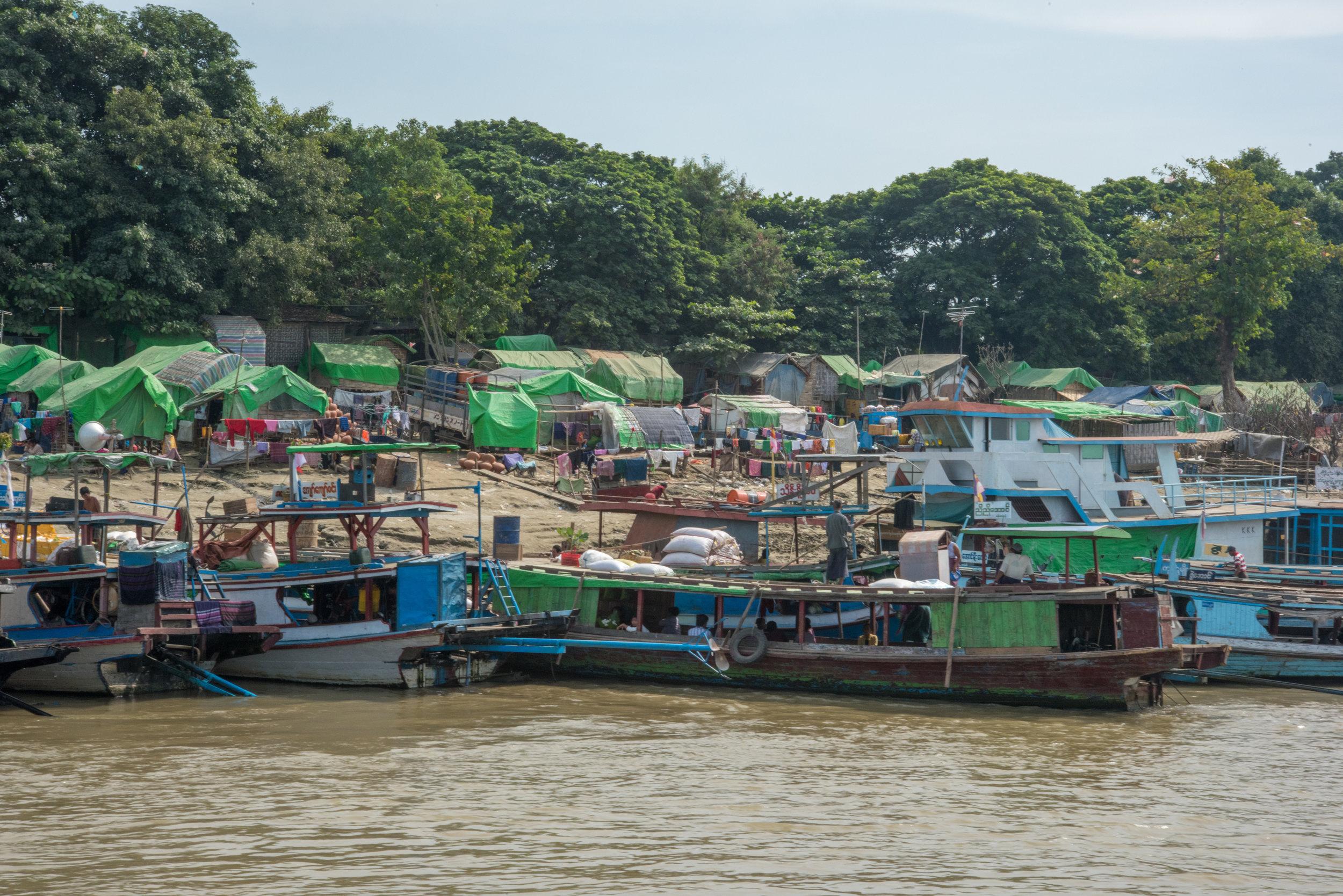 Harbour, Irrawaddy River, Mandalay, Myanmar