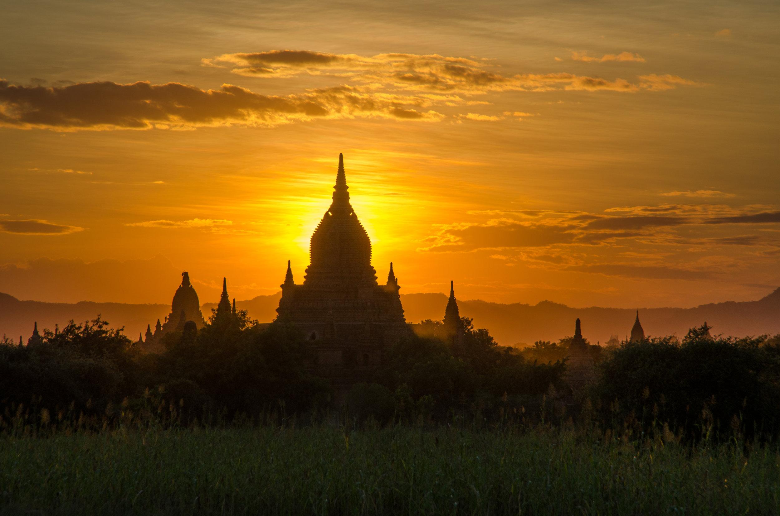 Sunset, Bagan, Myanmar