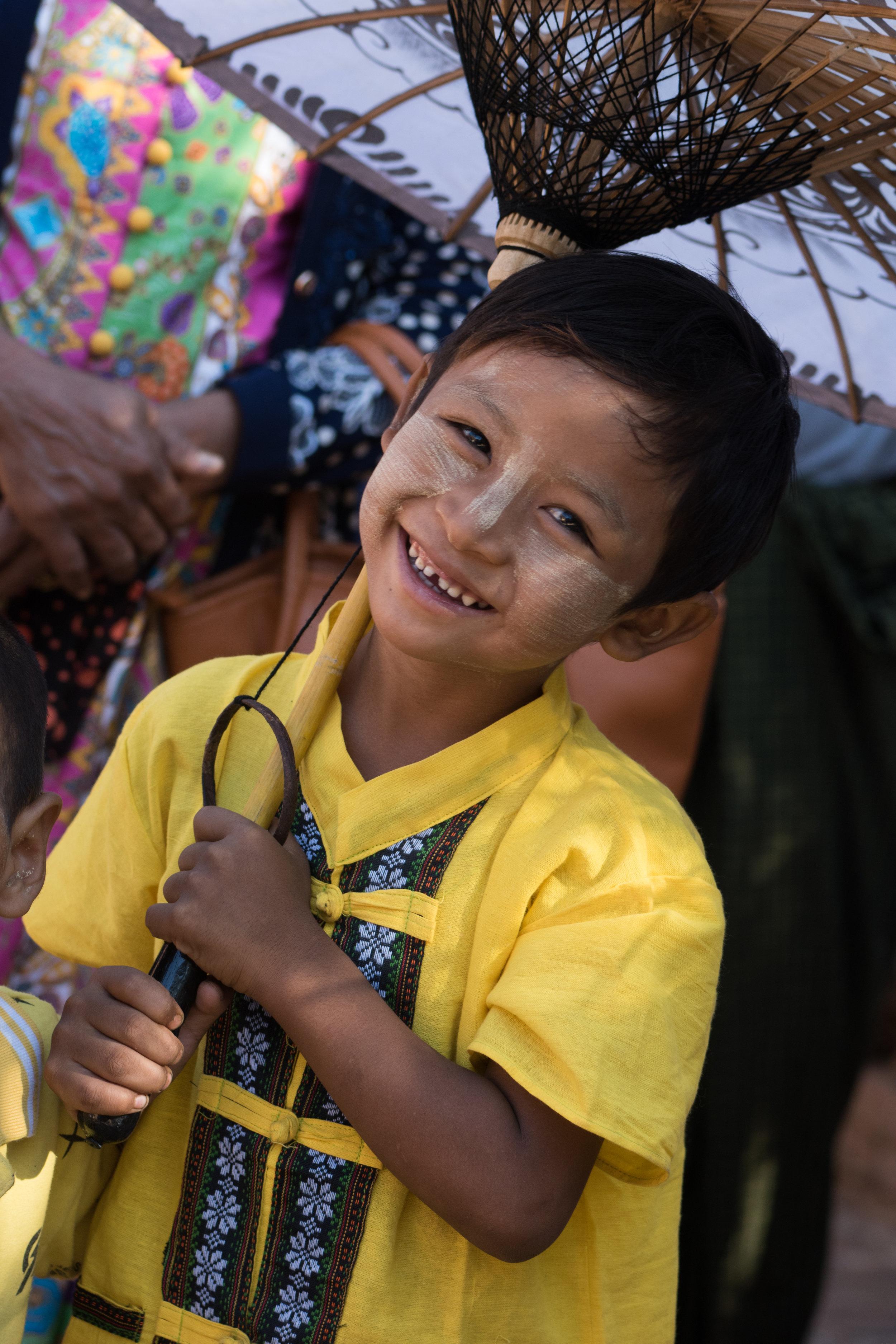 Child at Gubyaukgyi Temple, Bagan, Myanmar