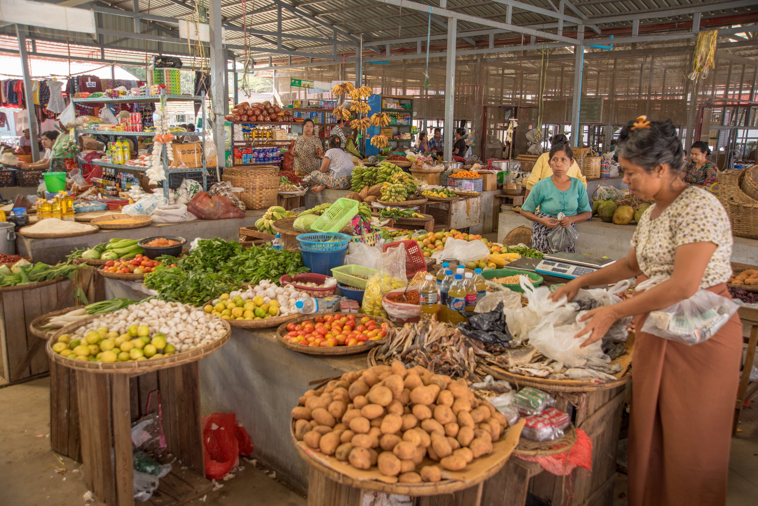 Farmer's Market, New Bagan, Myanmar