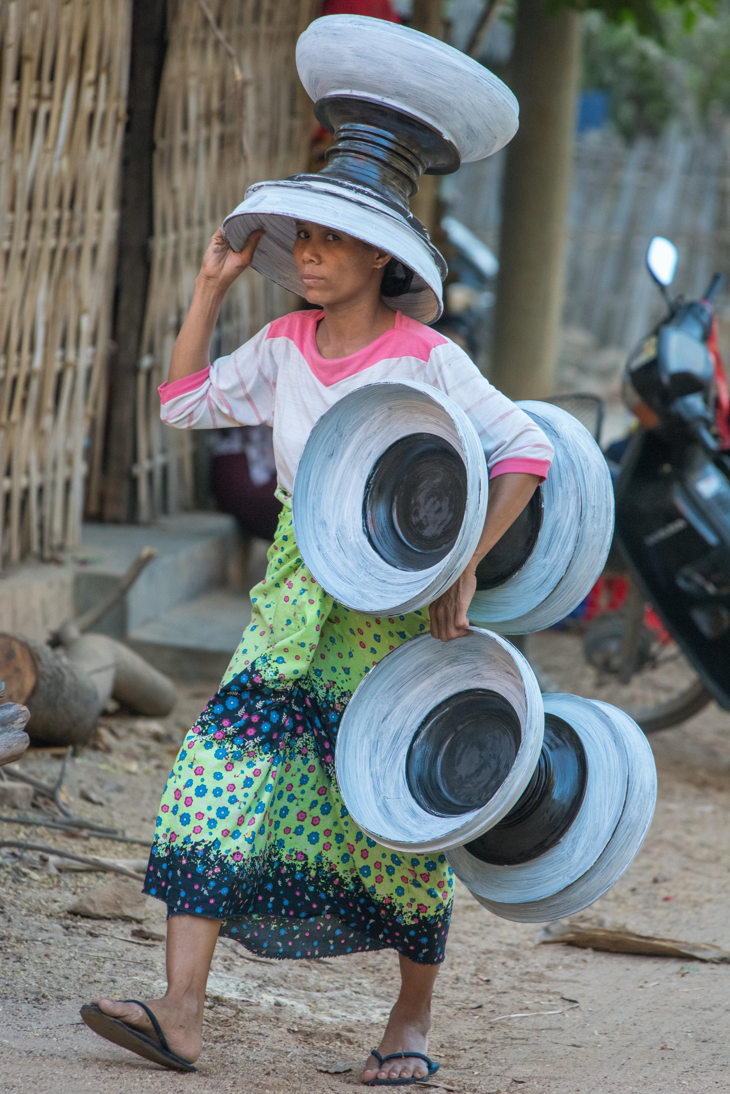 Local woman, Bagan, Myanmar
