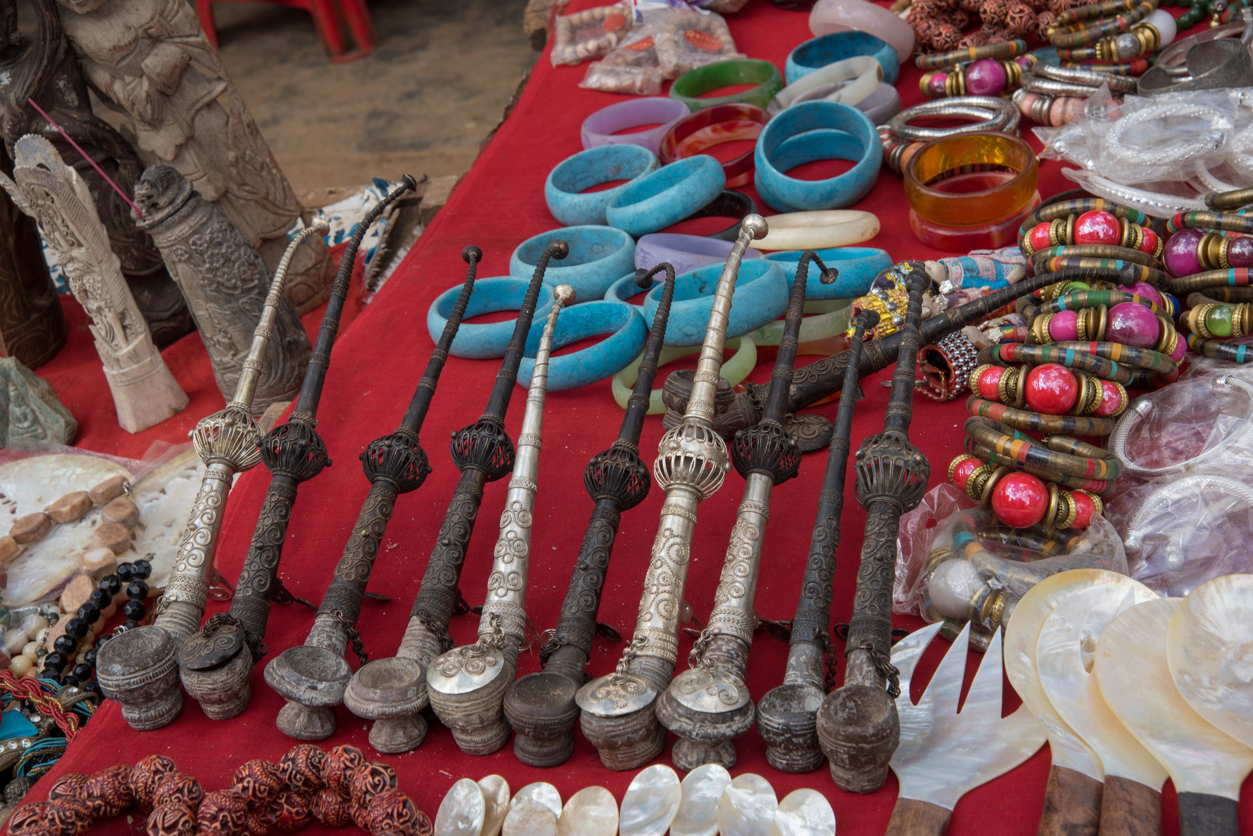 Pipes at HeHo market, Myanmar