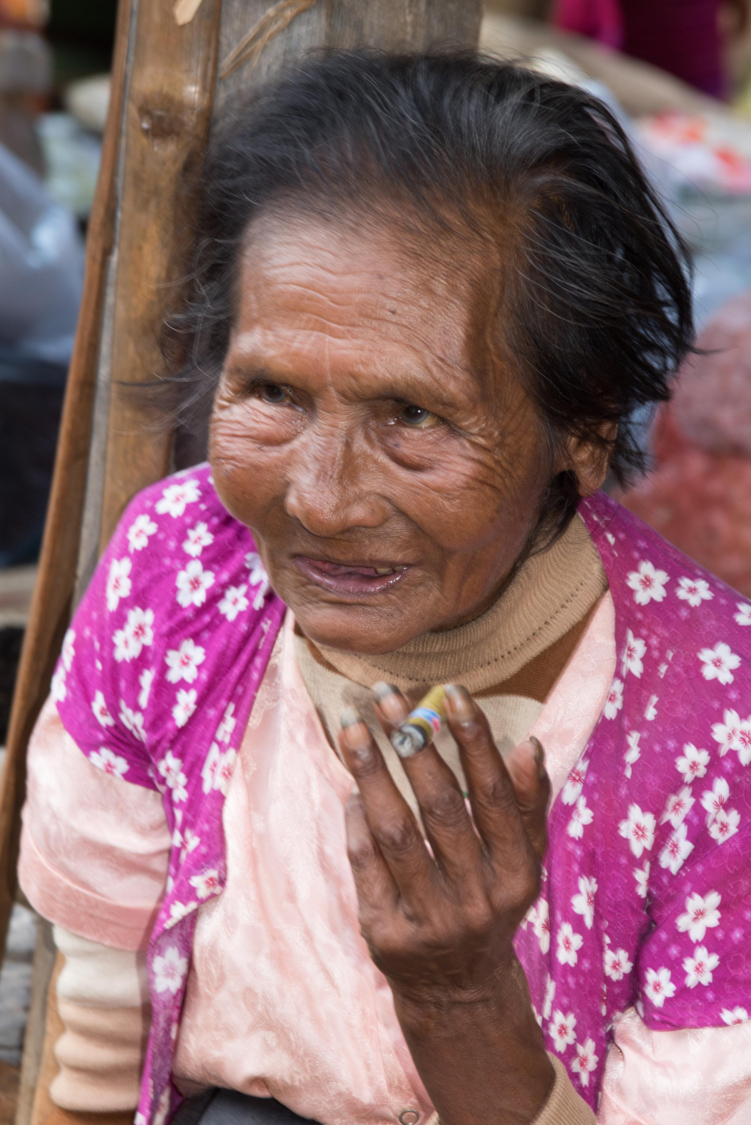 Lady (Portrait shot), HeHo market, Myanmar