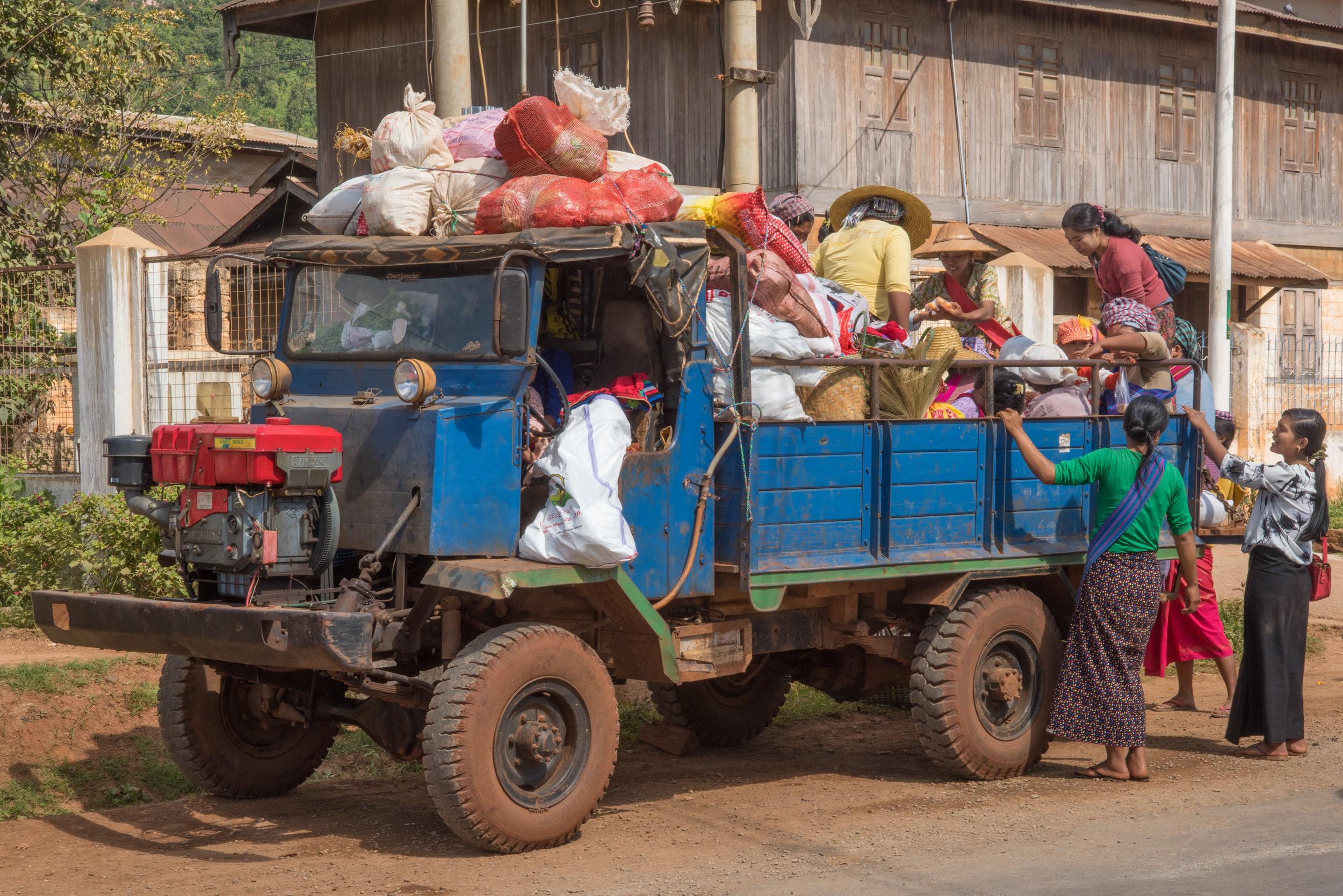 Truck, HeHo market, Myanmar