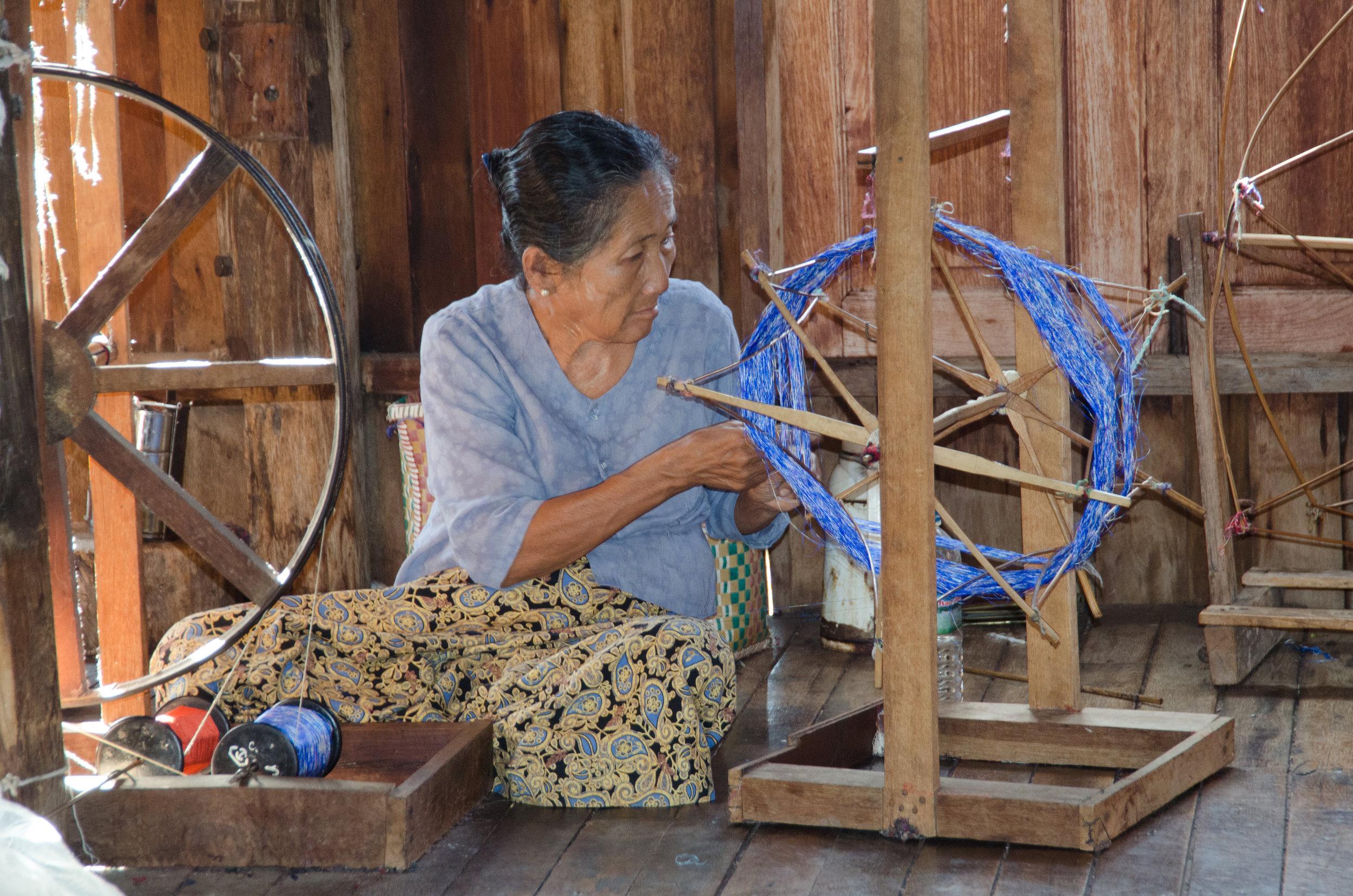 Silk factory, Inle Lake, Myanmar