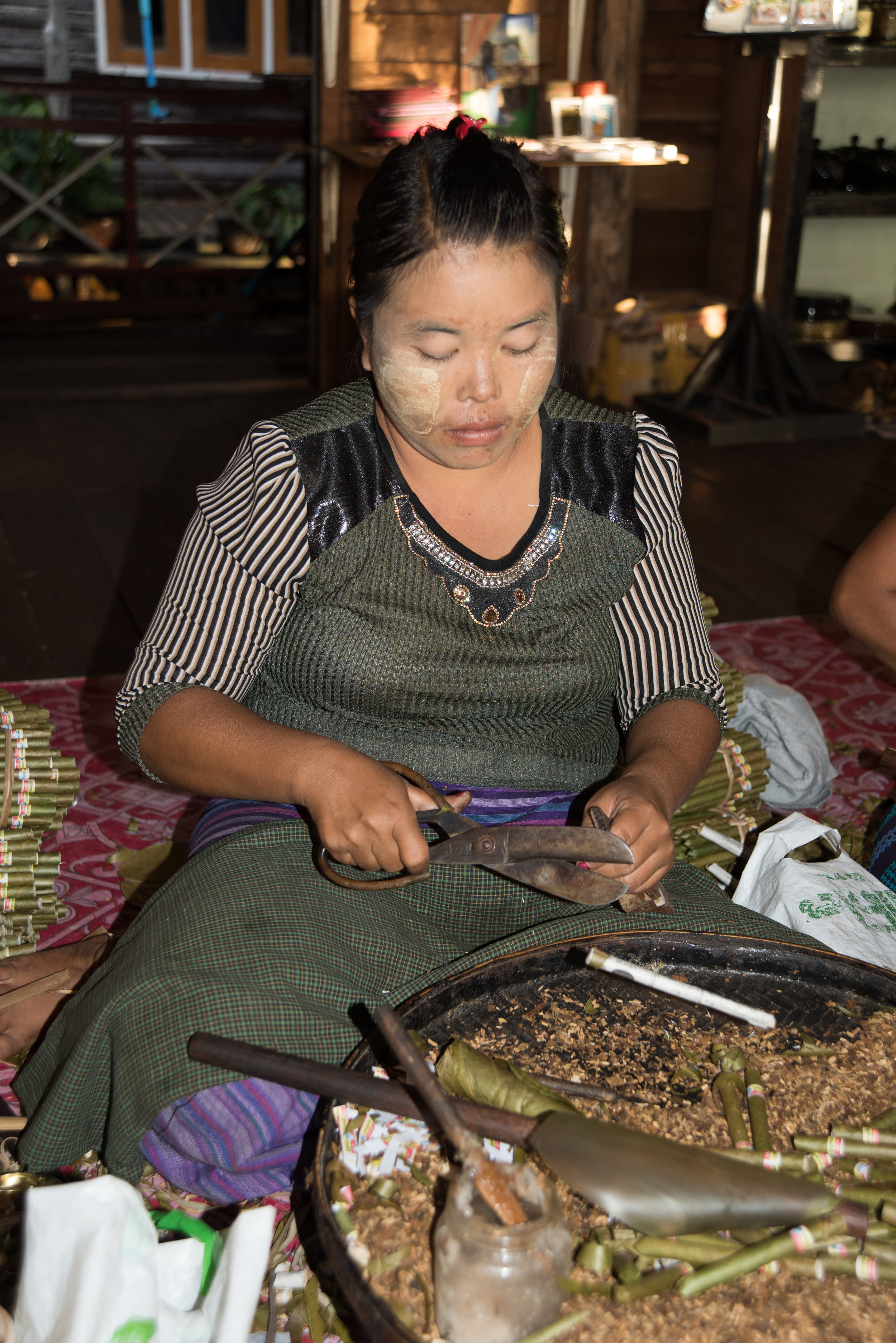 Cigar factory, Inle Lake, Myanmar