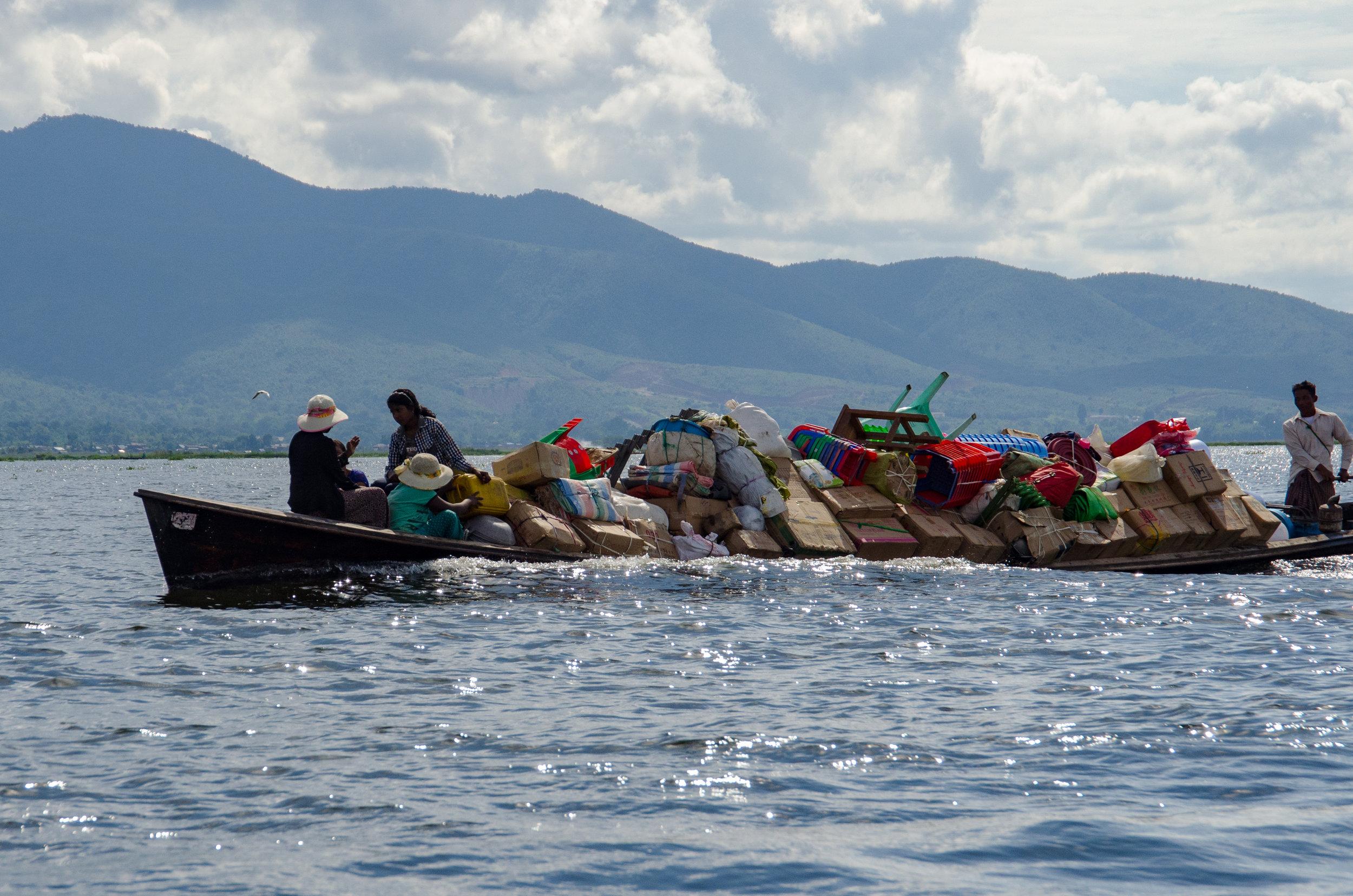 Local boat, Inle Lake, Myanmar