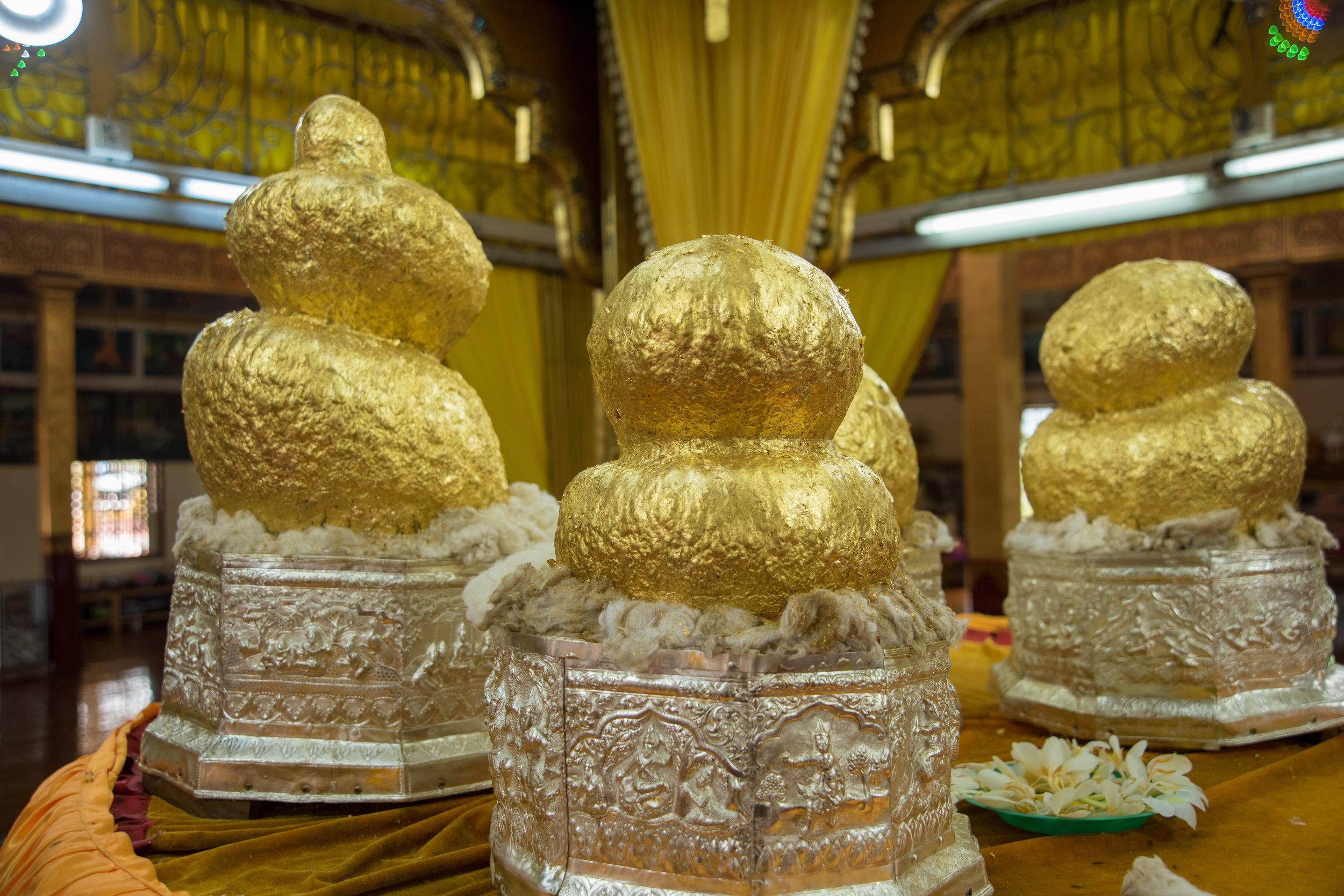 Gold Buddhas, Phaung Daw Oo Pagoda, Inle Lake, Myanmar