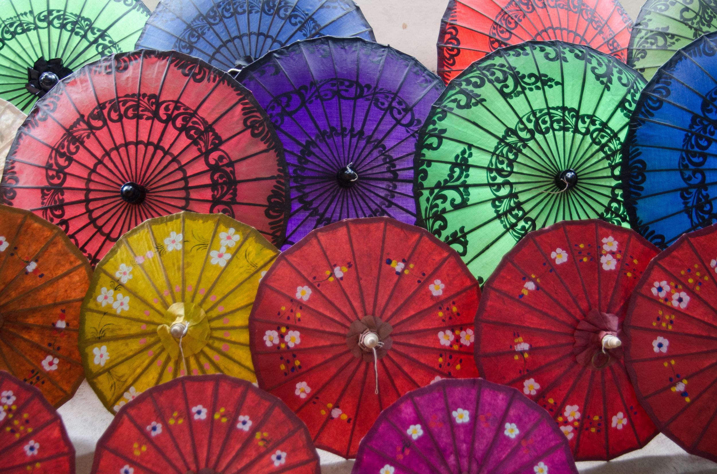 Umbrella factory, Inle Lake, Myanmar