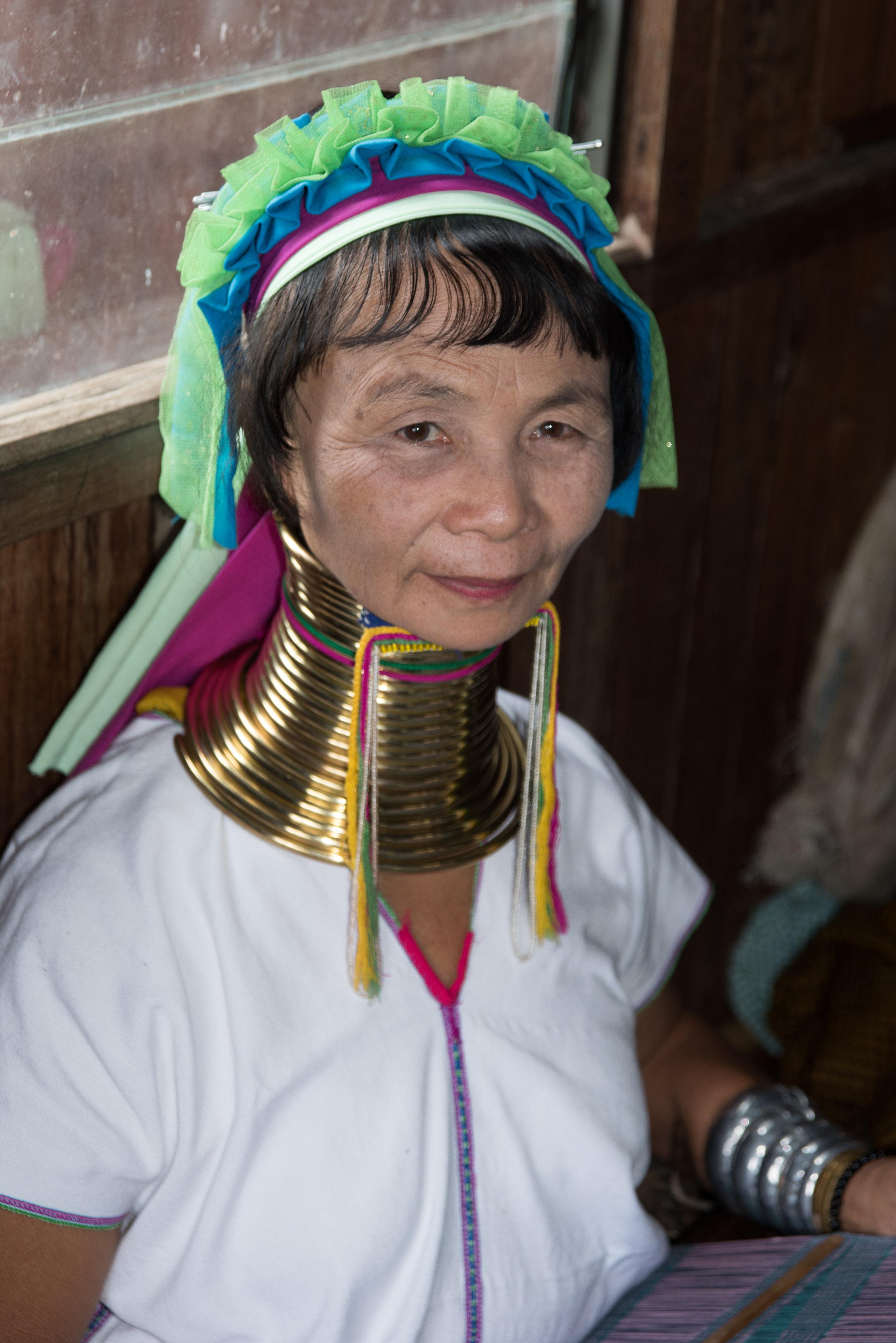 Woman from Padaung ethnic minority, Inle Lake, Myanmar