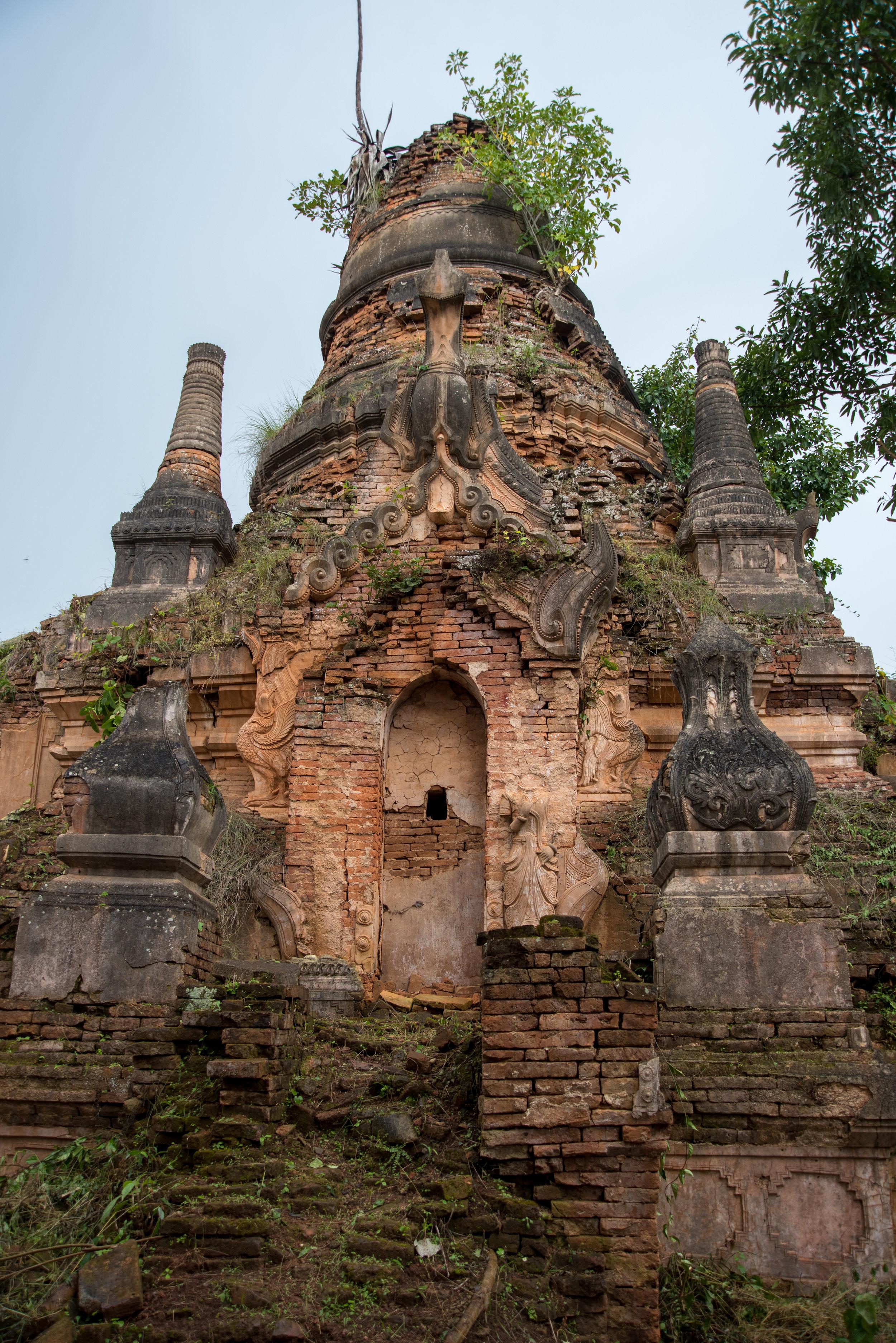 Stupa ruins, Indein, Myanmar