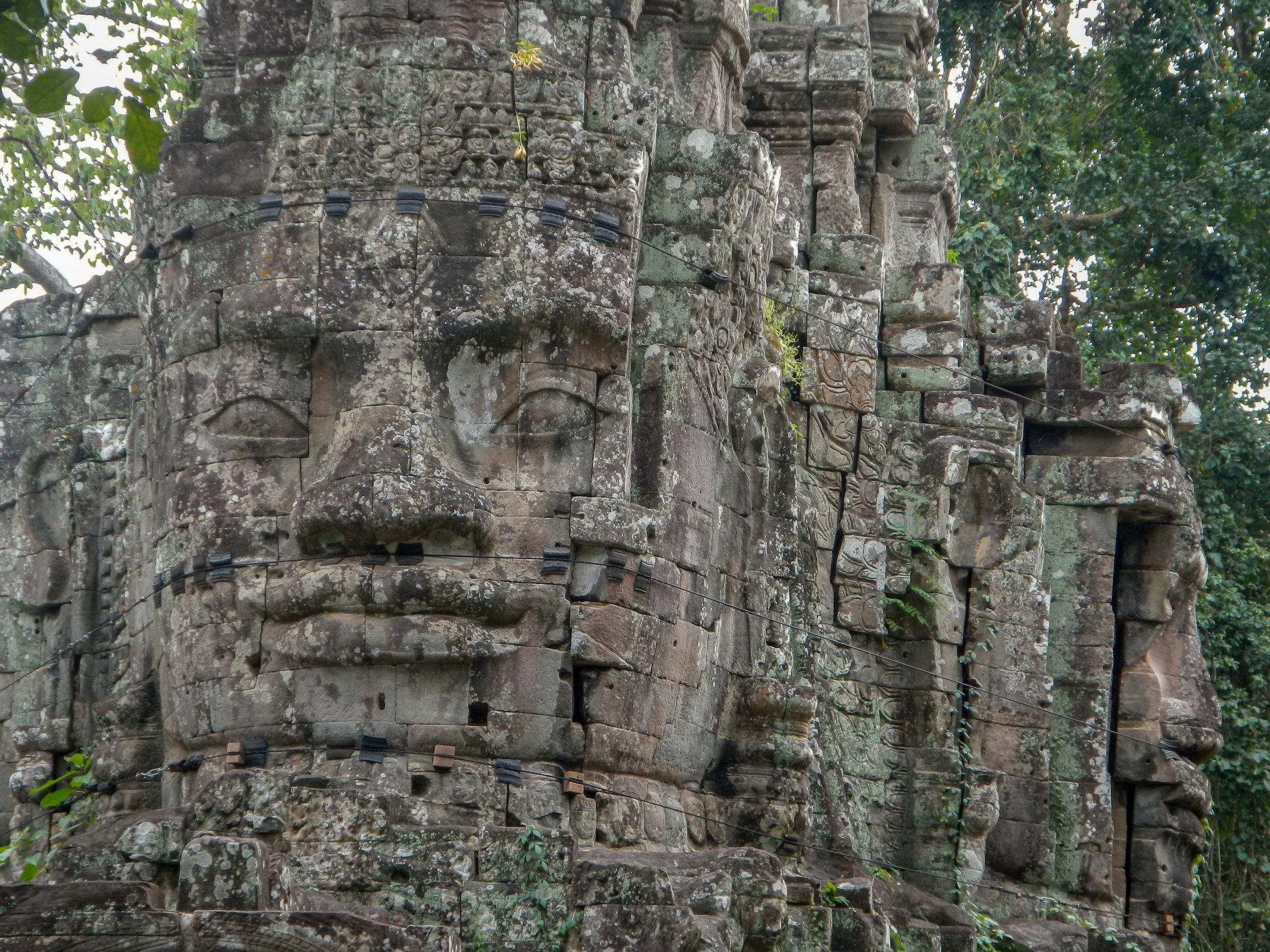 East Gate, Ankgor Thom Temple, Siem Reap, Cambodia
