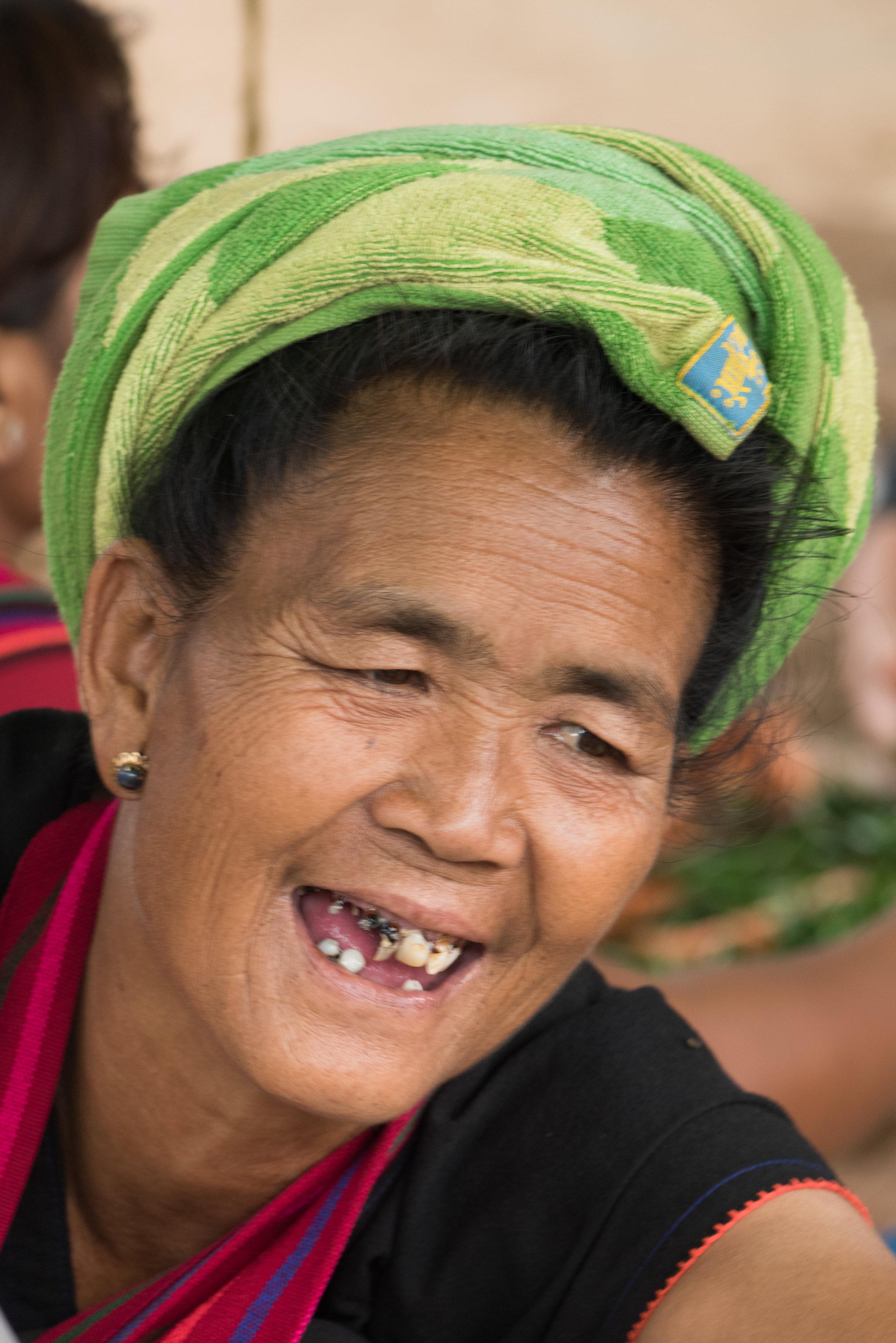 Lady at Market, Phaung Daw Oo Pagoda, Inle Lake, Myanmar