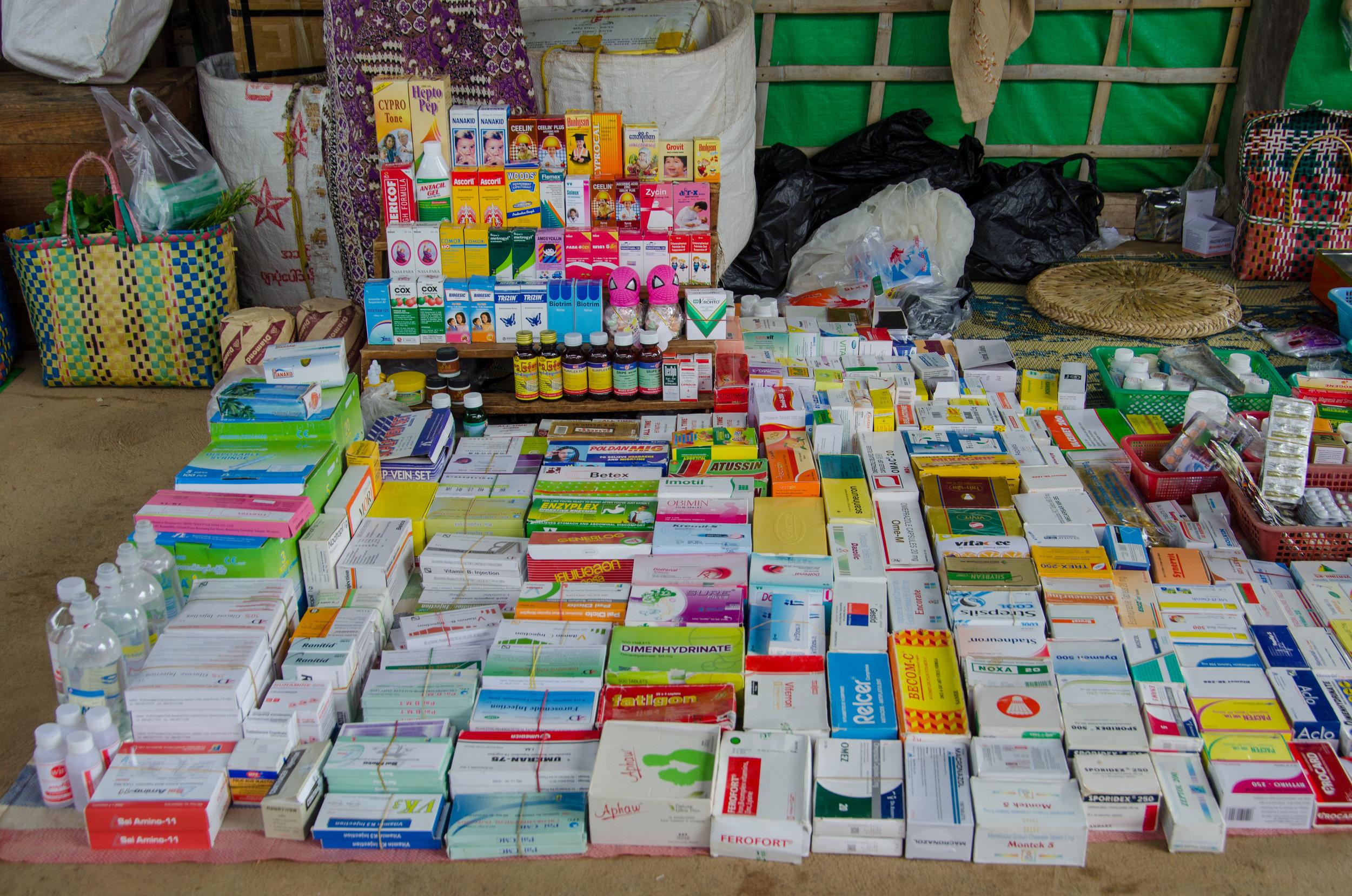 Pharmacy, Market, Phaung Daw Oo Pagoda, Inle Lake, Myanmar