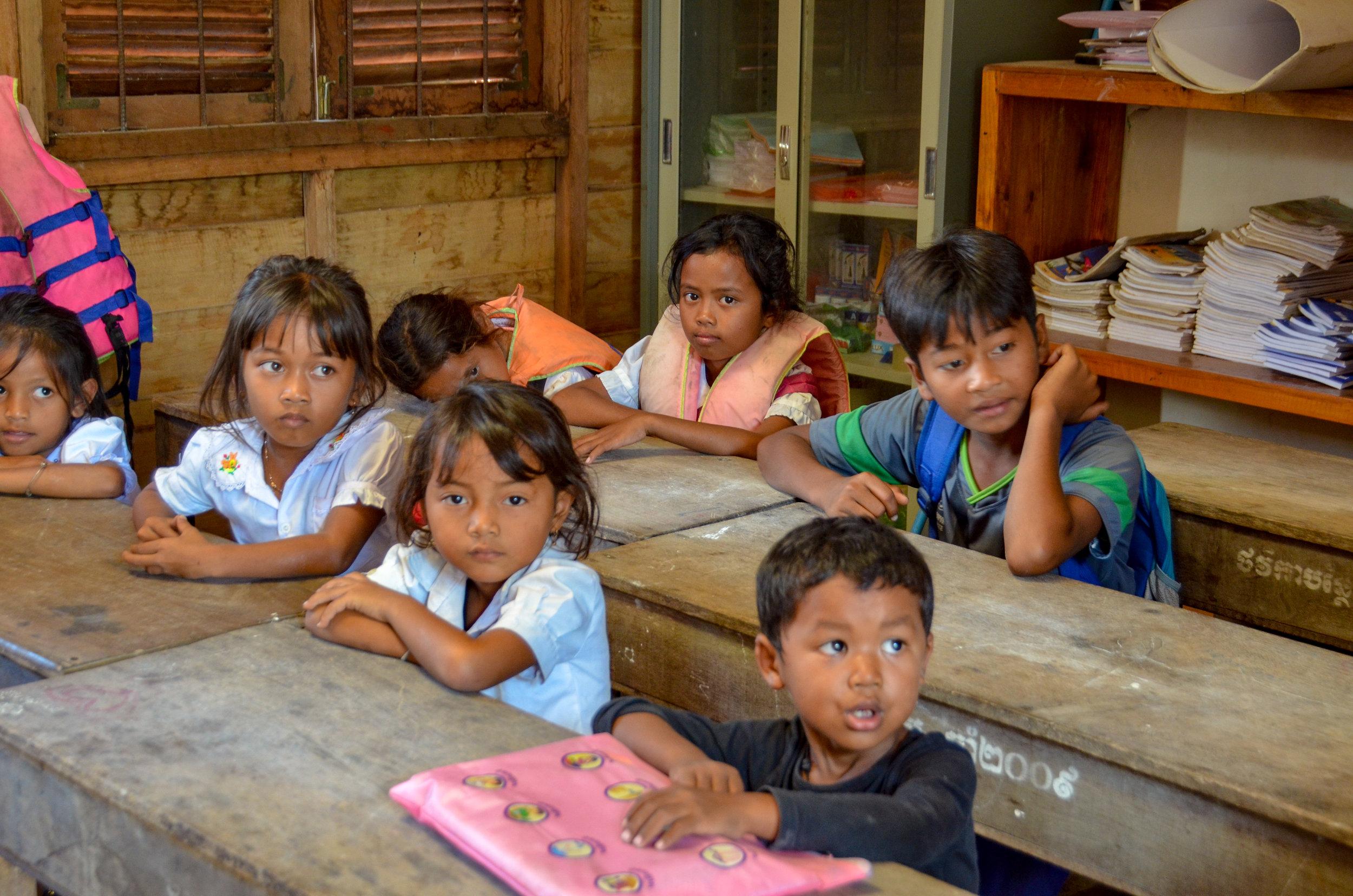 Students, Koh Kong Knong Village, Cardamom Mountains, Cambodia