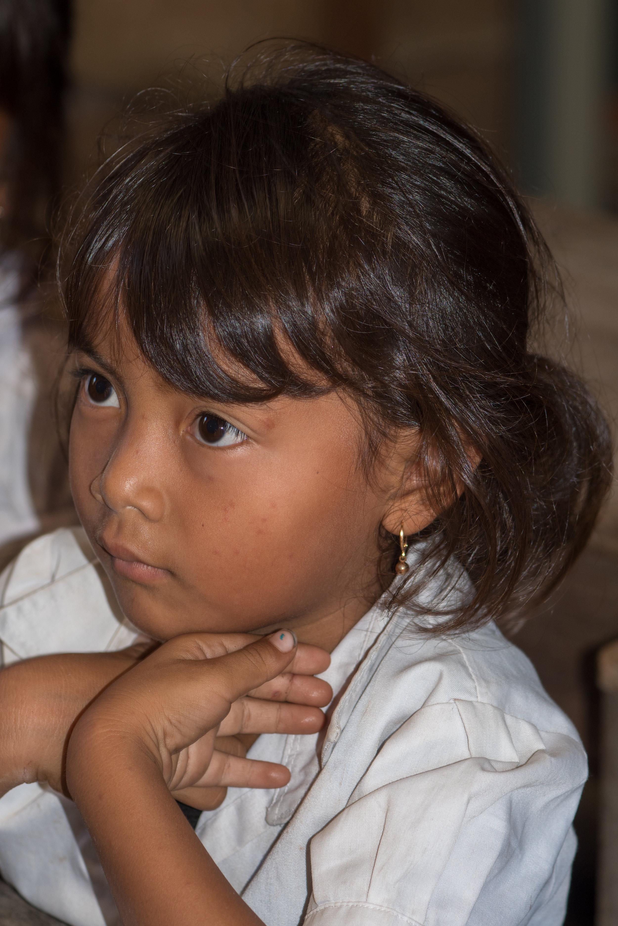 Schoolgirl, Koh Kong Knong Village, Cardamom Mountains, Cambodia