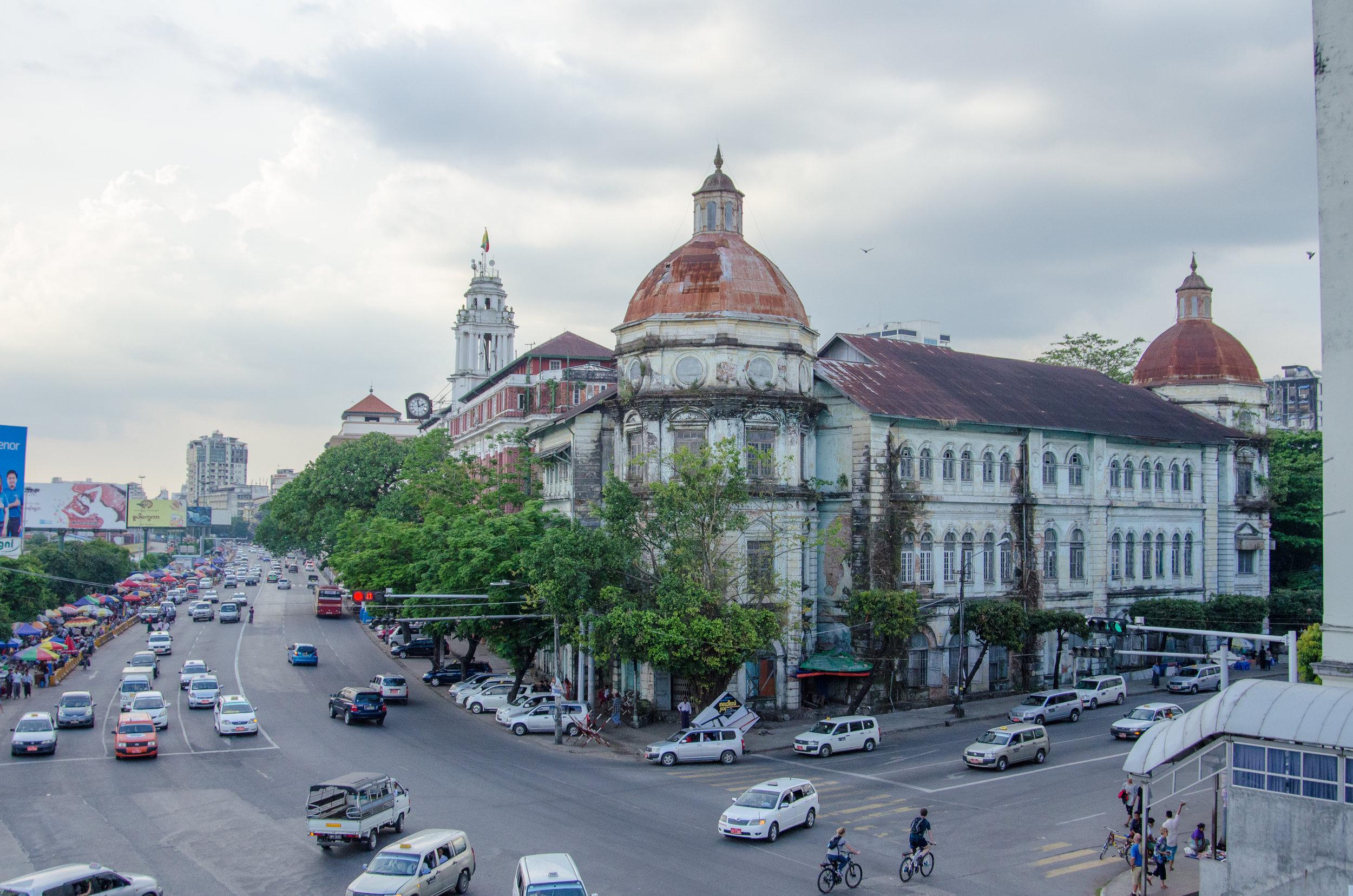 The Strand, Colonial area, Yangon, Myanmar