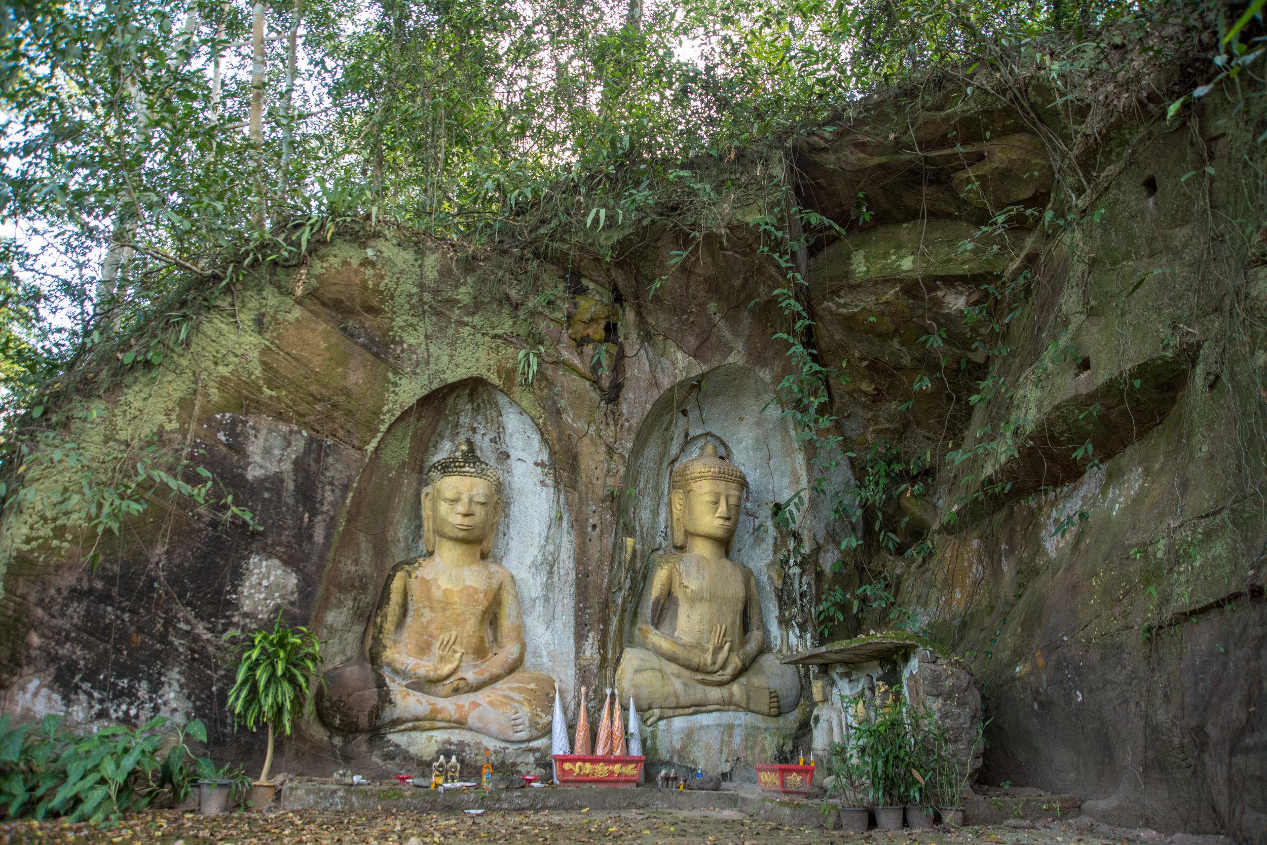 Buddhas, archaeological site at Vang Xang, Laos