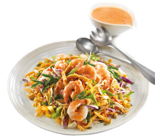 Summer Sweet Chilli Prawn Salad
