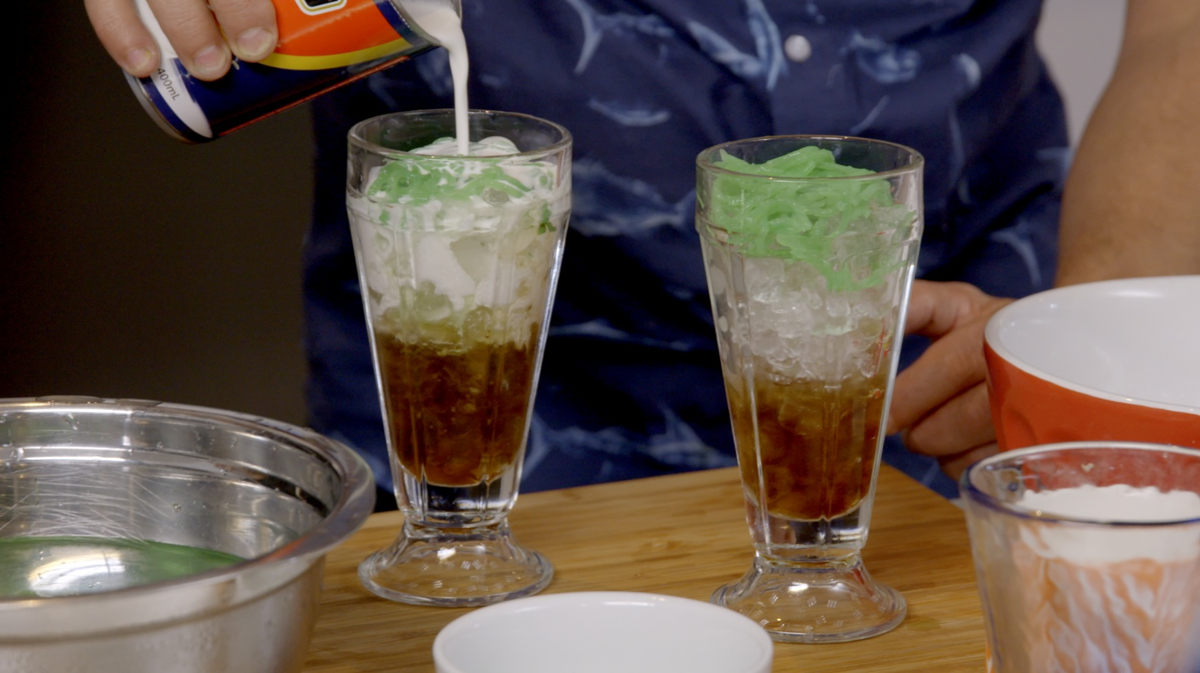 This sweet delight is found all over Asia and is just the thingto cool you down when the weather gets too hot. An unusual combination of flavour & texture, it's best enjoyed as a drink (be sure to usea super-sized straw) or like a dessert with a spoon.