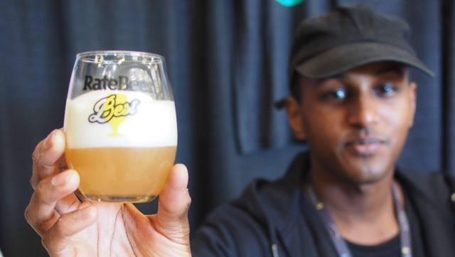 Henok from Omnipollo at the recent RateBeer Best Festival where they received several awards