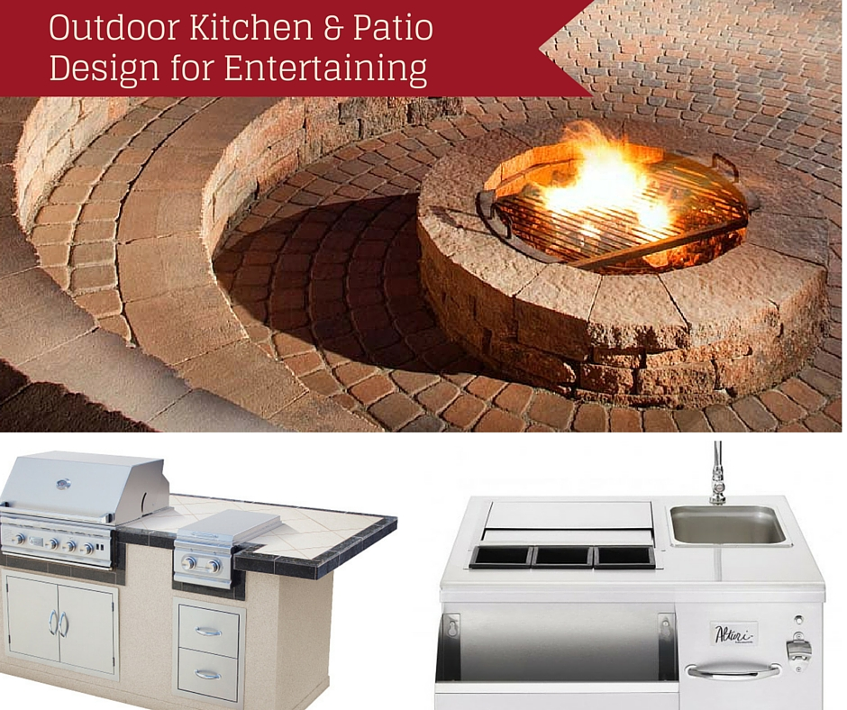 Outdoor kitchen and patio design for entertaining