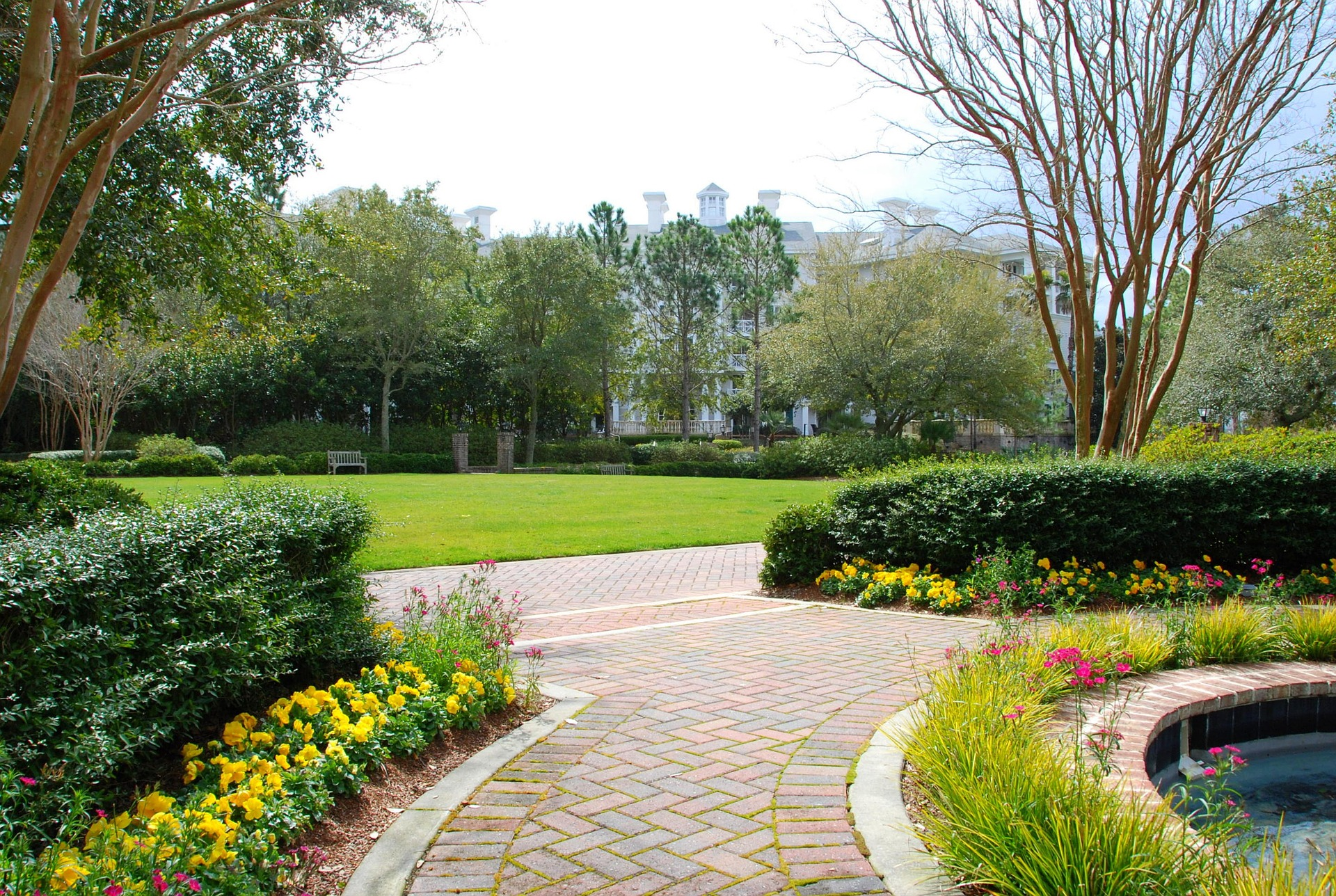 floral walkway landscaping design ideas
