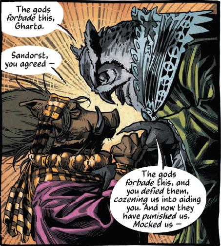 gharta the warthog and sandhorst the owl - different ends of the same spectrum
