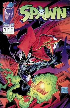 "(""Spawn"" by ""Spawn #1"" at The Grand Comics Database. Retrieved January 14, 2005.. Licensed under Fair use via Wikipedia -    https://en.wikipedia.org/wiki/File:Spawn.jpg#/media/File:Spawn.jpg   )"