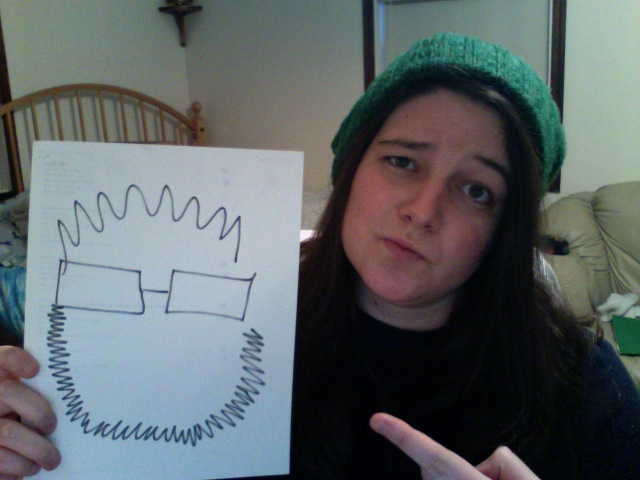 """""""Why do you look like this Drew?"""" (Photo via Carly Alden's Facebook)"""