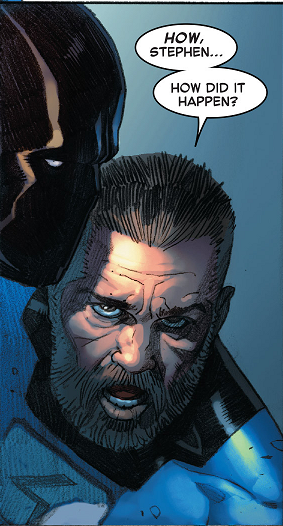 Sad Reed is Sad in Secret Wars #4, Marvel Comics