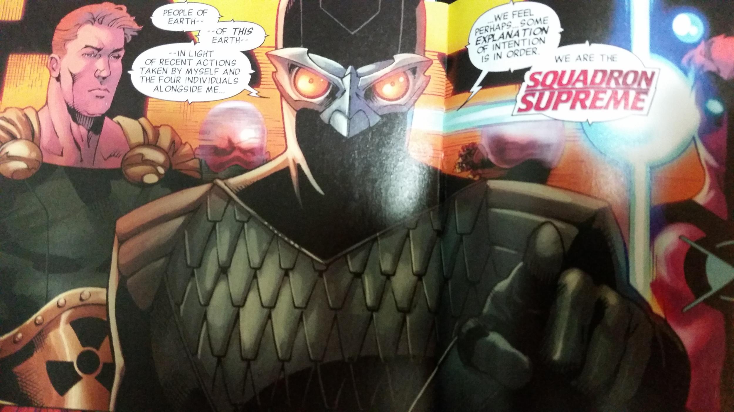 the nighthawk design is brilliant (Image courtesy of Marvel Comics